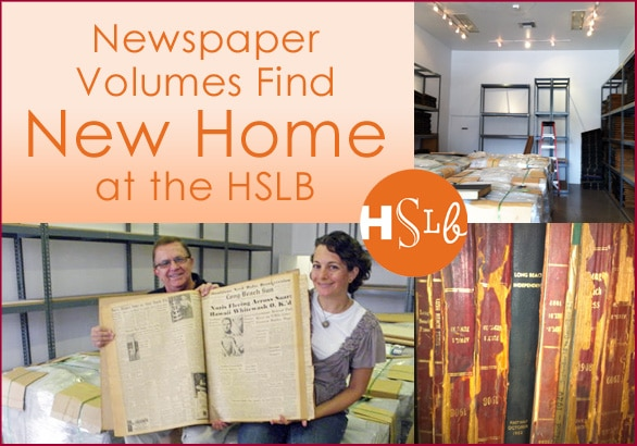 Newspaper volumes find new home at HSLB