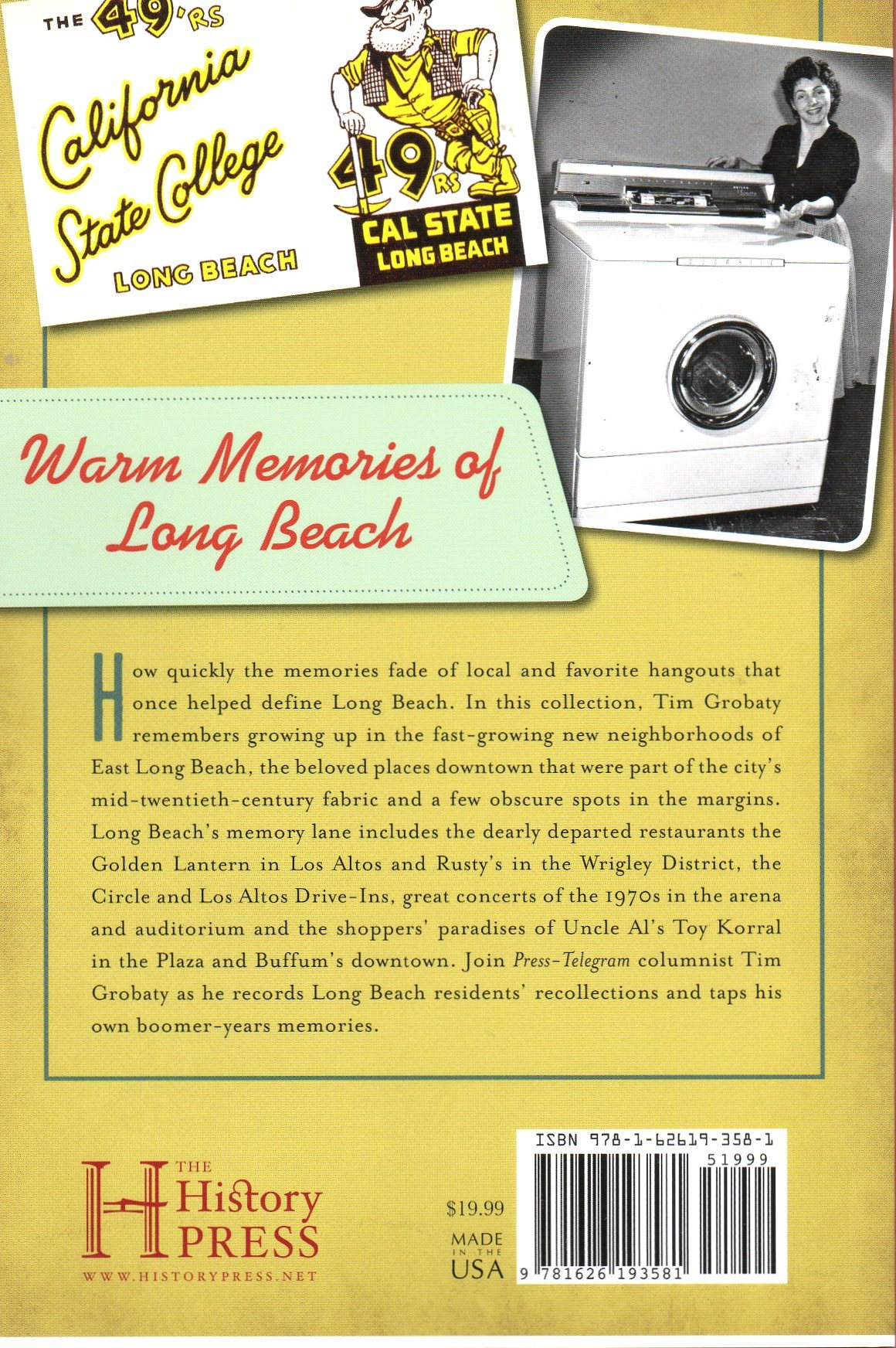 Growing up in Long Beach Book Back side