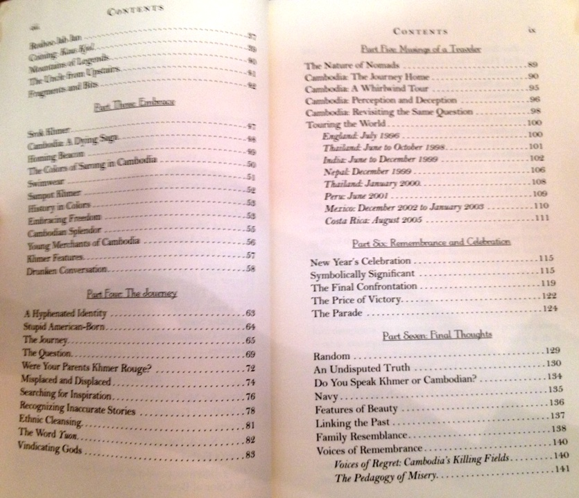 book-reflections of a khmer soul table to contents