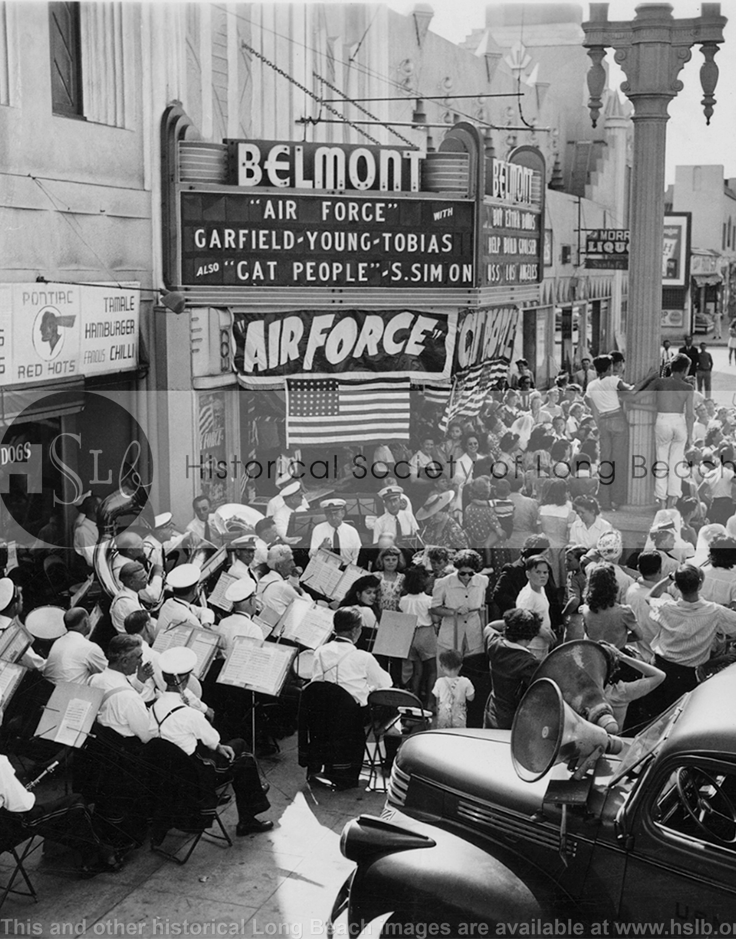 Belmont Theatre band, 1943 vintage photograph
