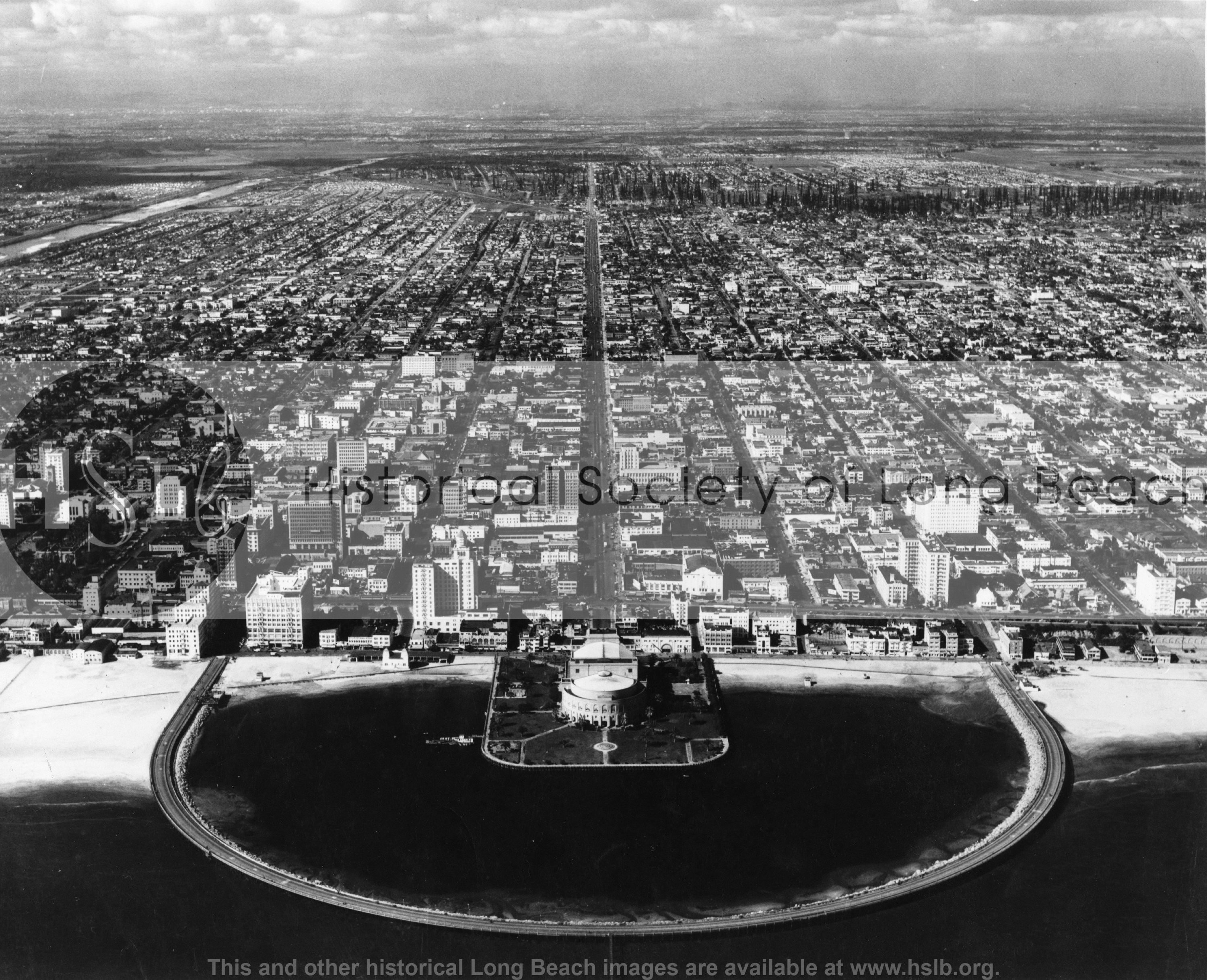 American Ave. aerial, 1946