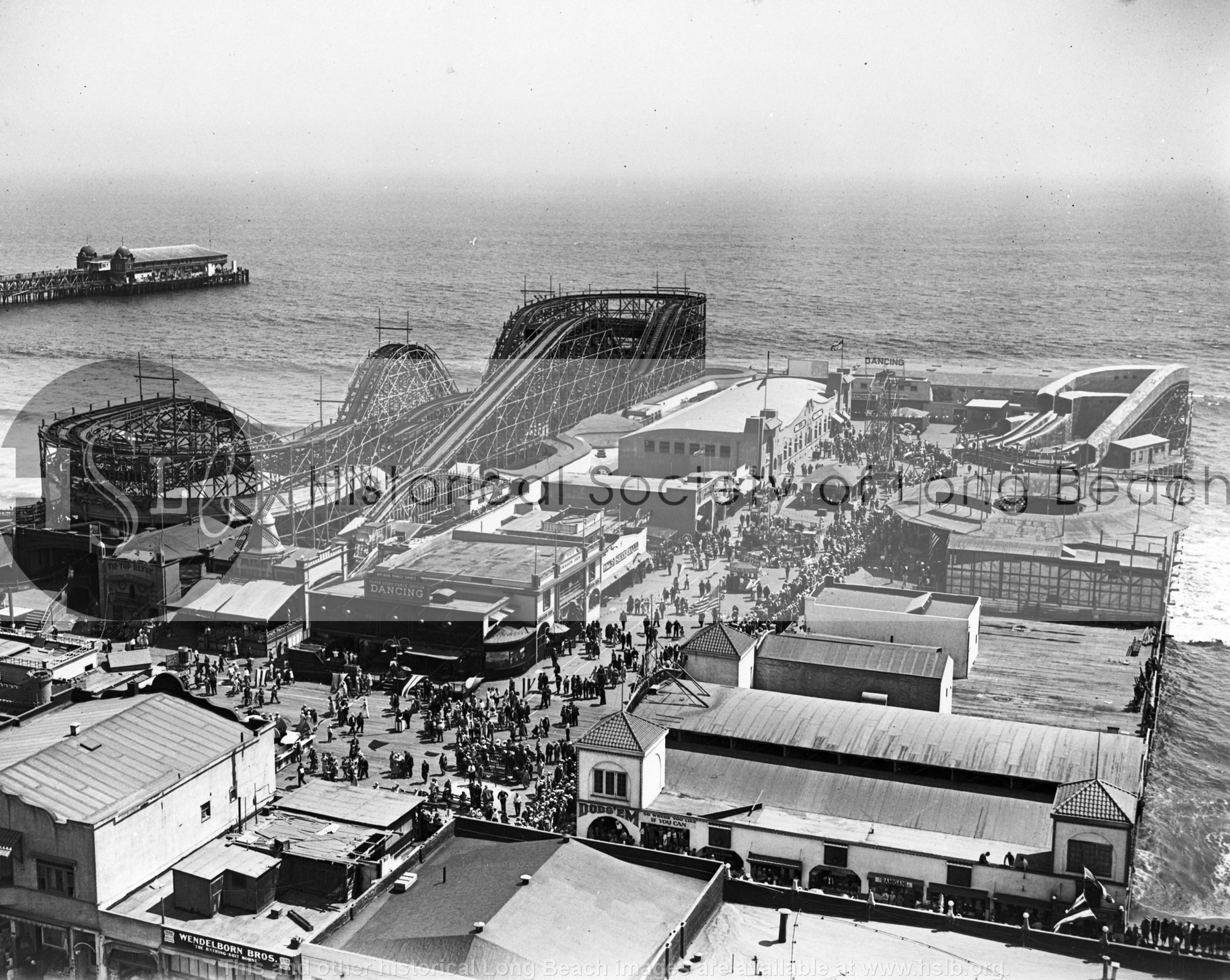Silver Spray Pier, 1924 vintage photograph