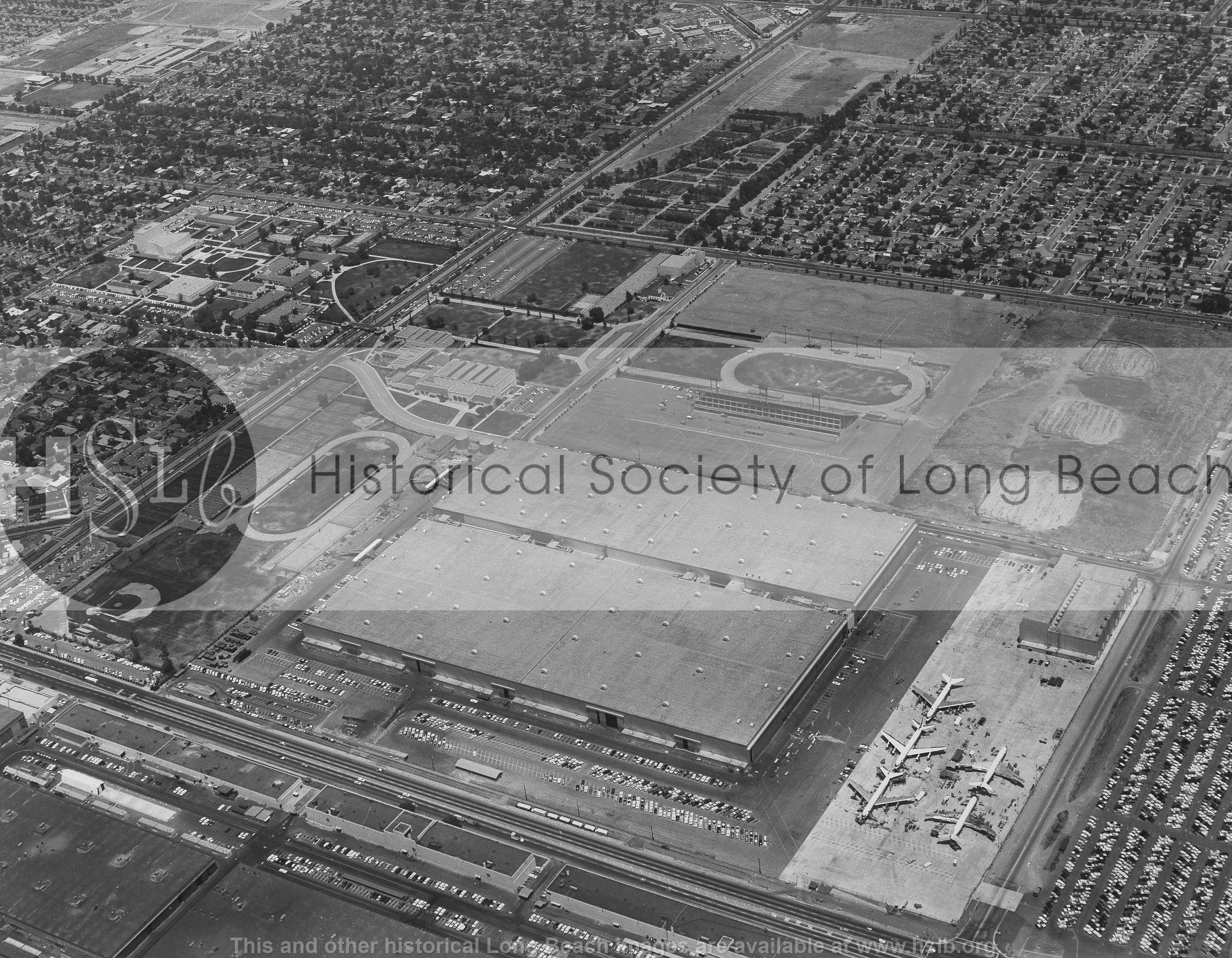 McDonnell Douglas aerial, 1959 vintage photograph