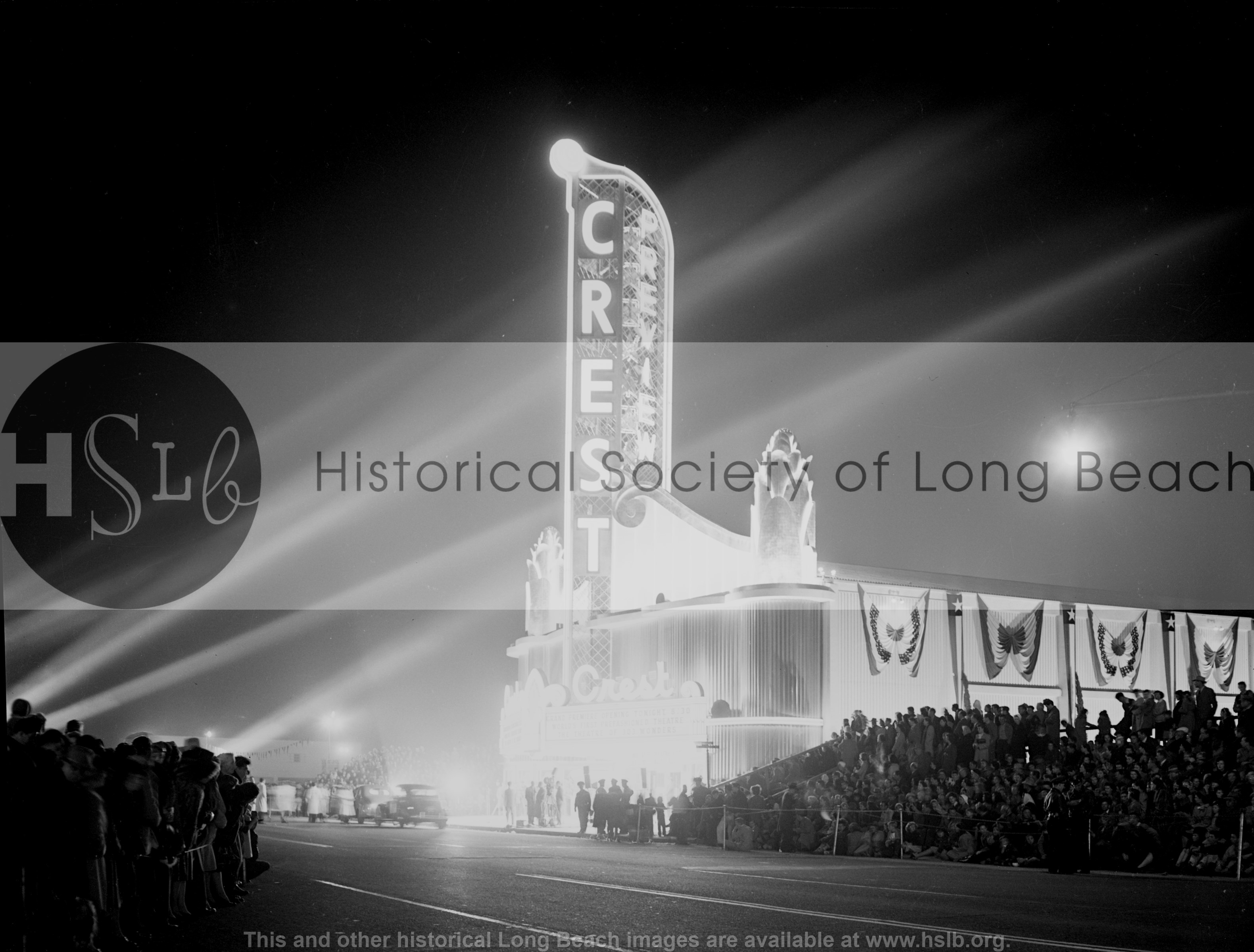 Crest Theatre opening, 1947 vintage photograph