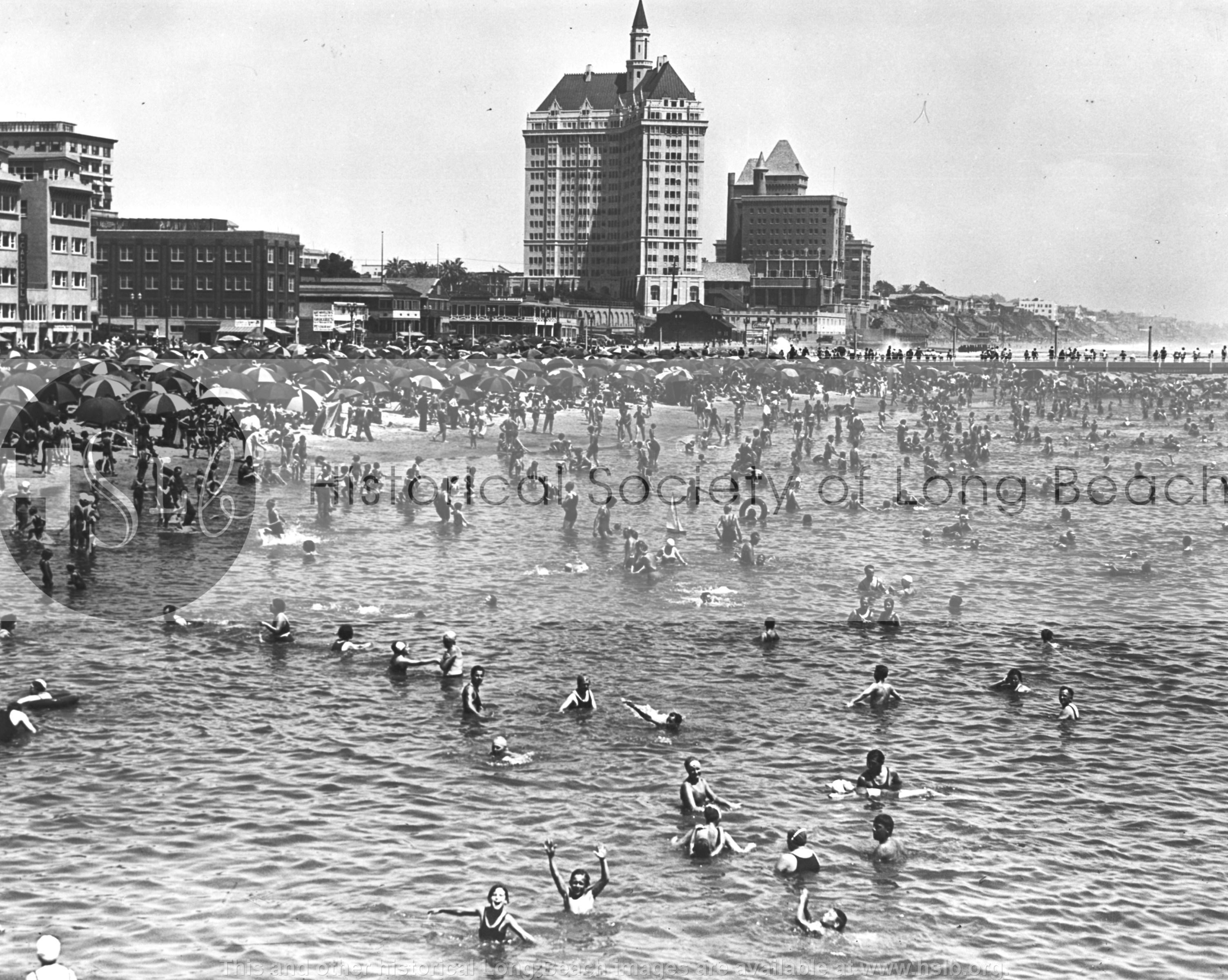 East beach, 1933 Historical photograph