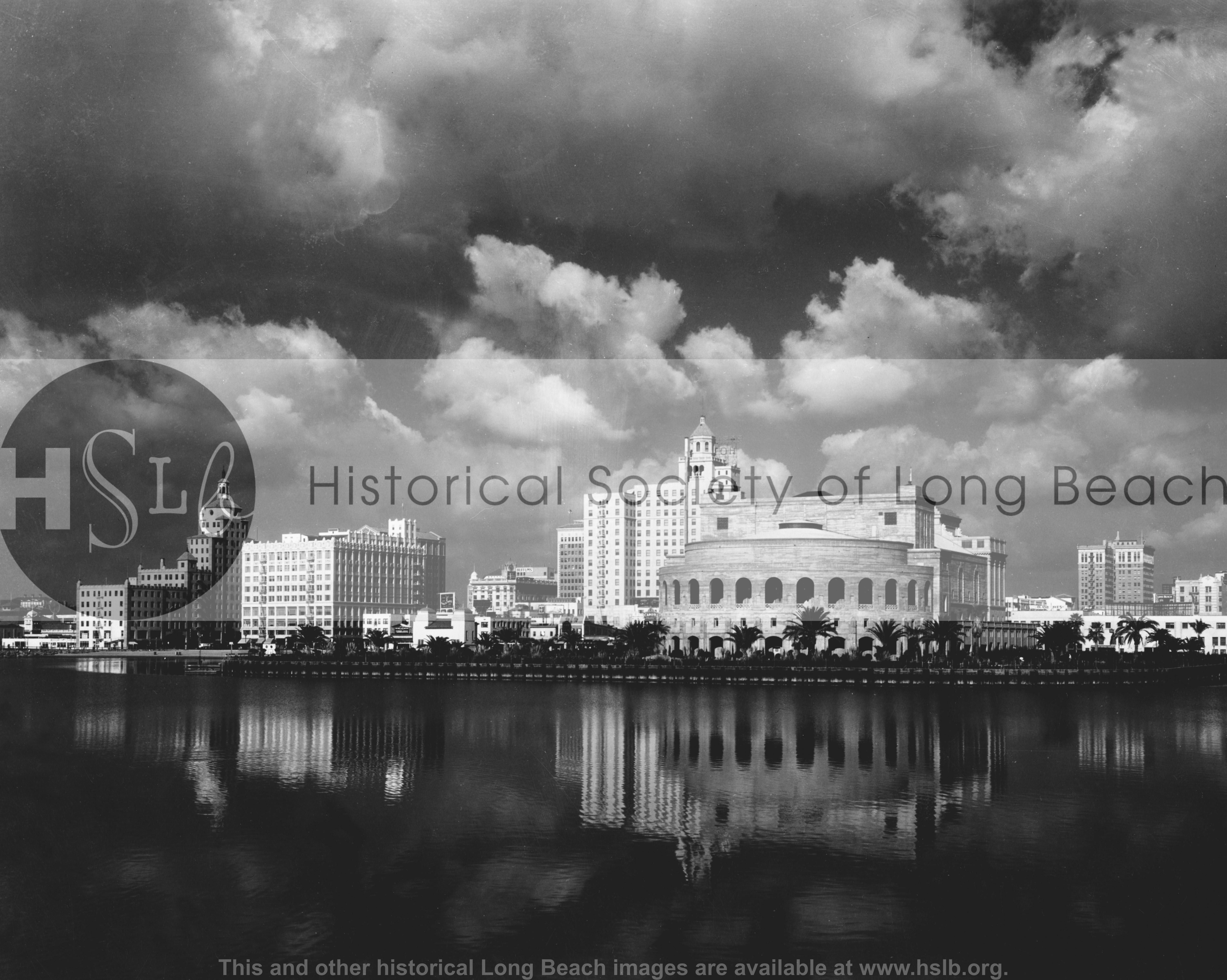 Skyline with Auditorium, 1933 historical photograph