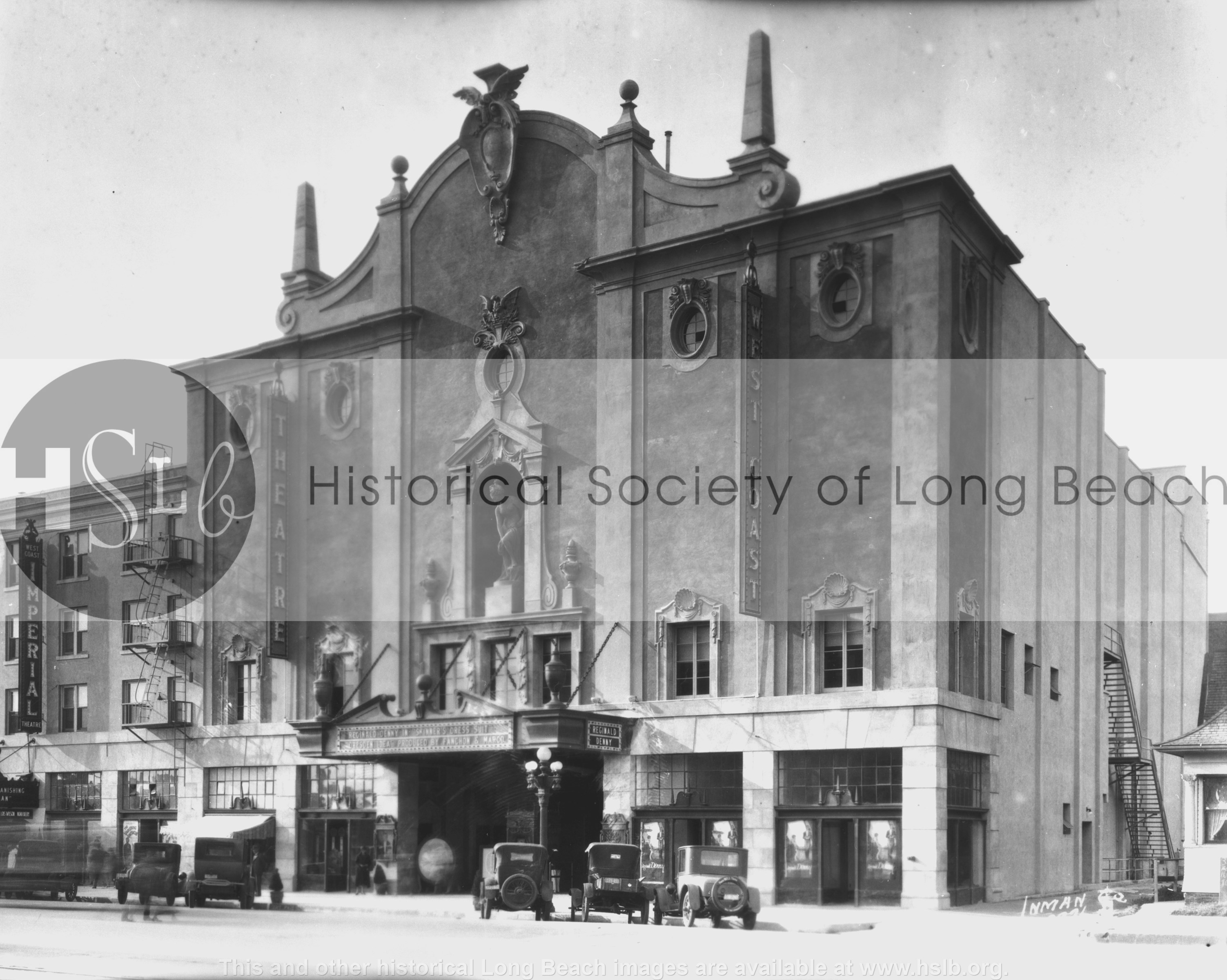 Fox West Coast Theatre, 1927 historical photo