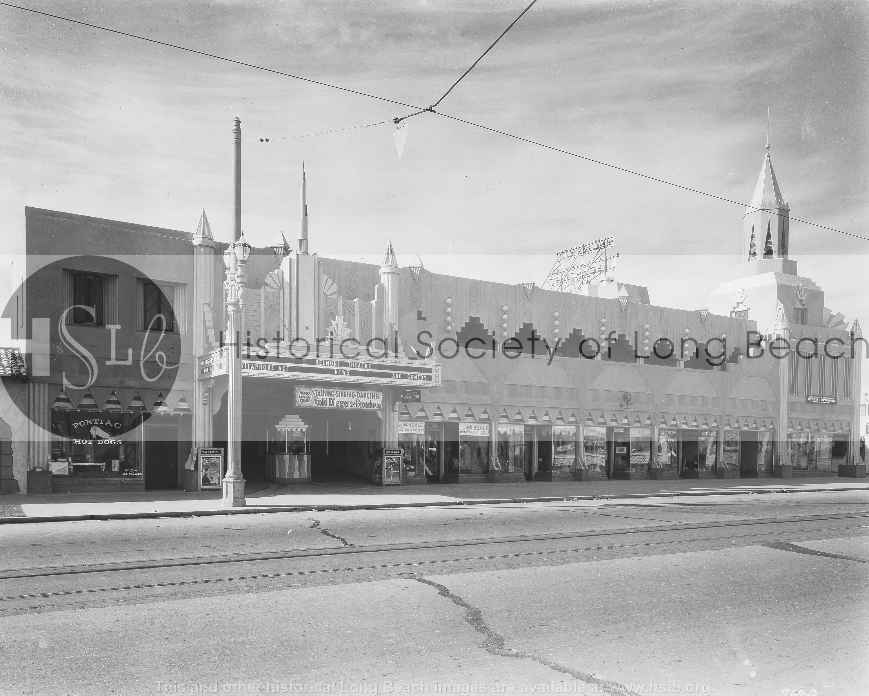 Belmont Theatre, 1930 historical photo