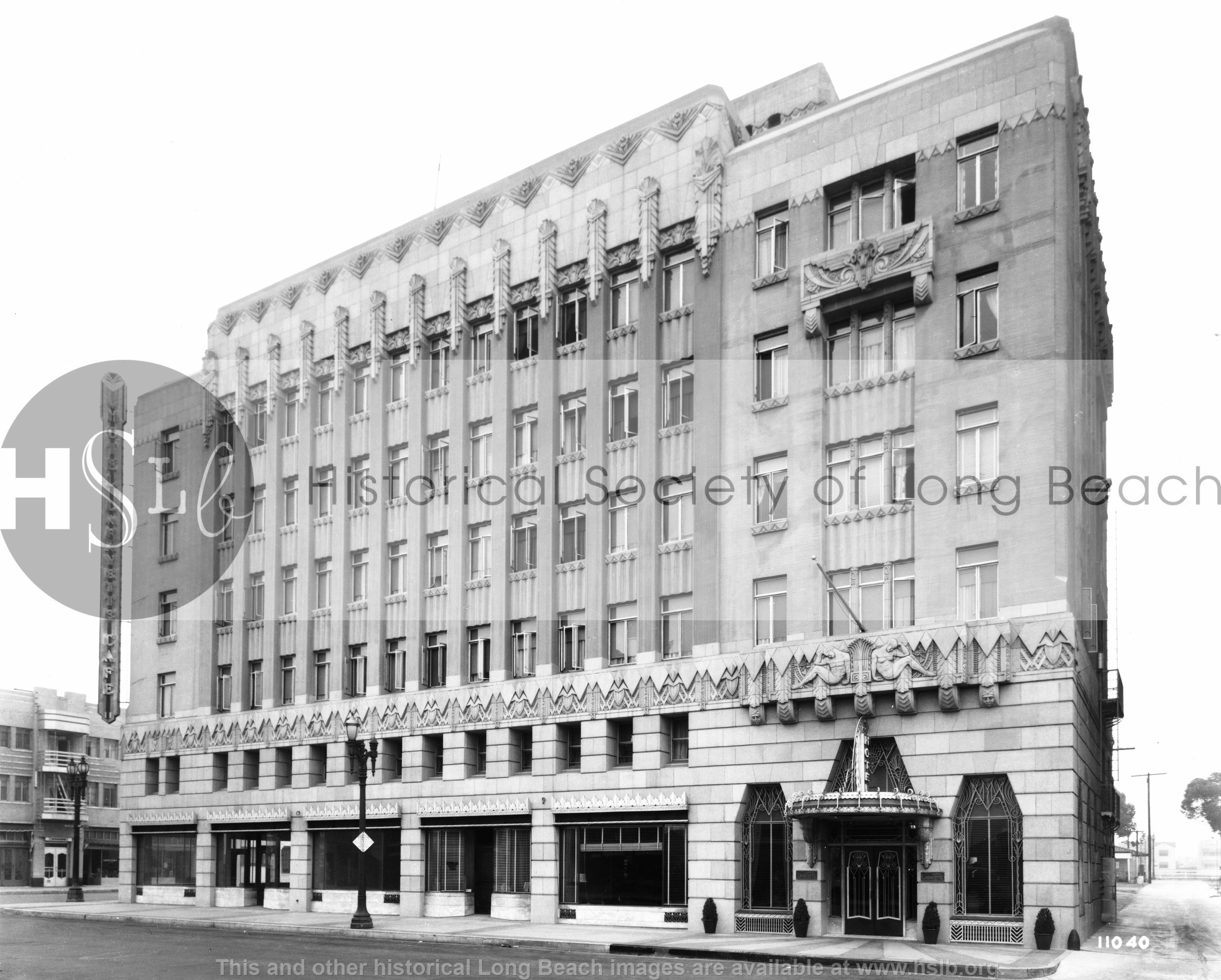 Lafayette Hotel, 1930s historical photo