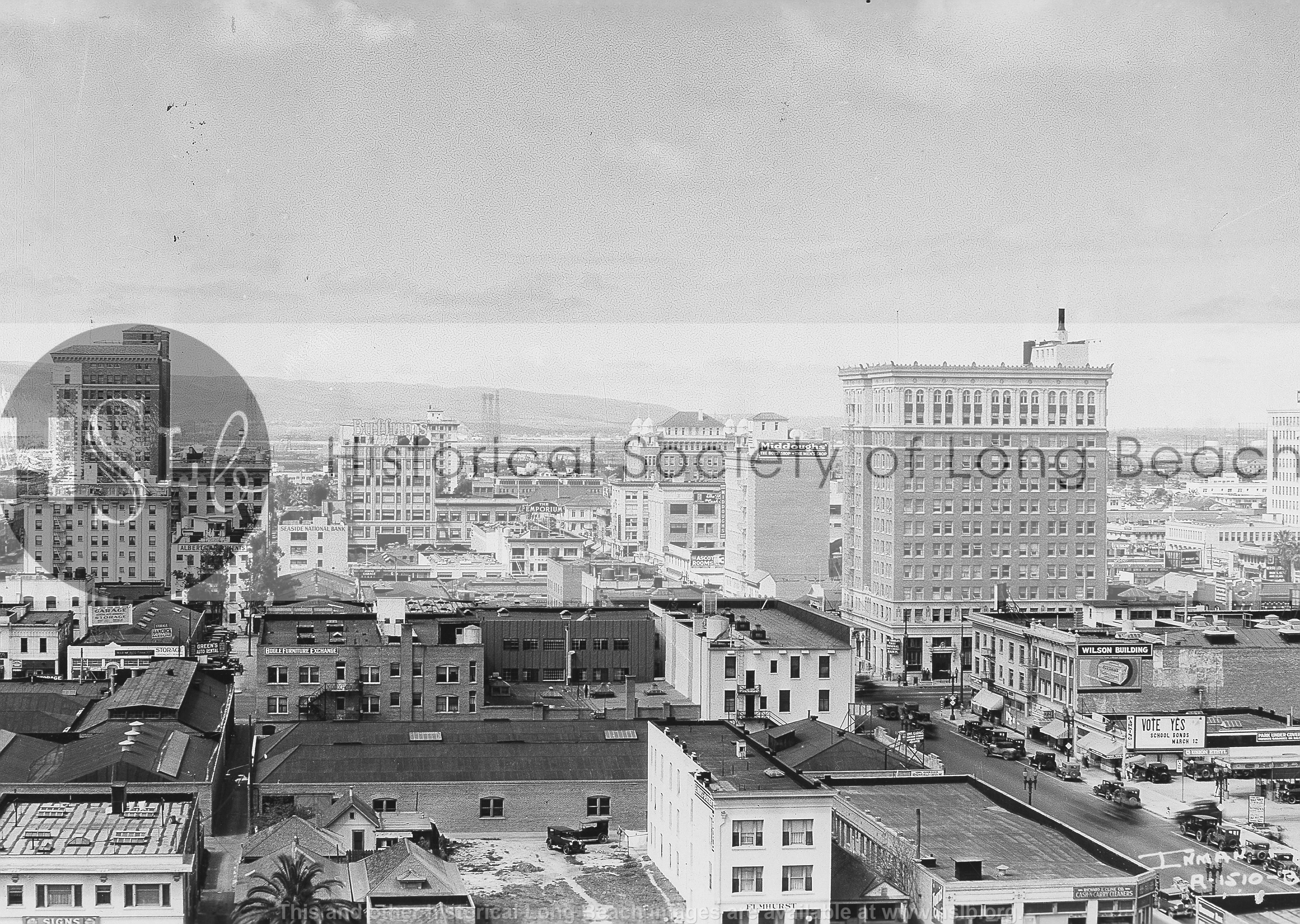 Broadway Ave, 1927 vintage photograph