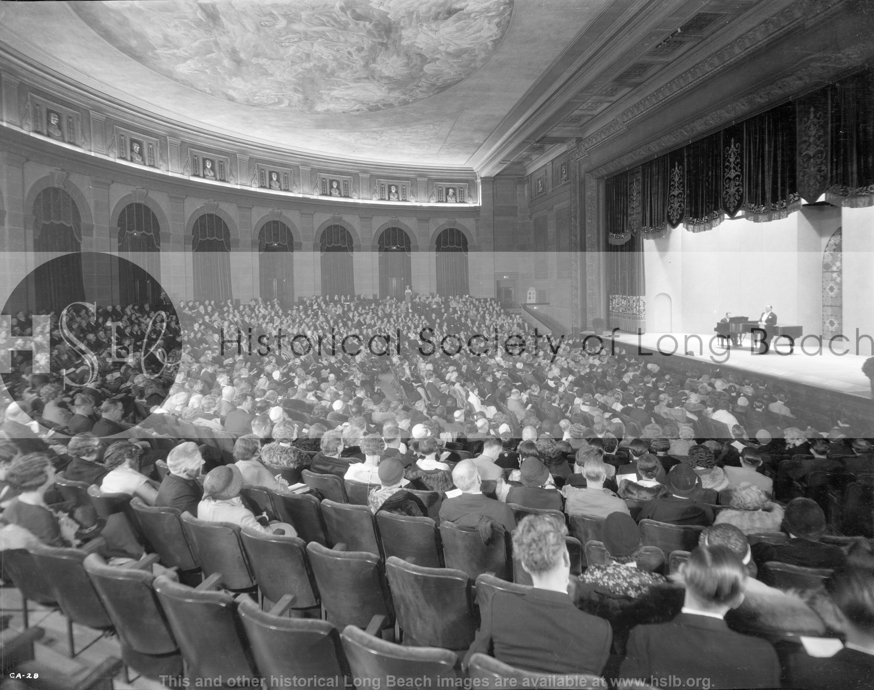 Concert hall Municipal Auditorium, 1932 vintage photograph
