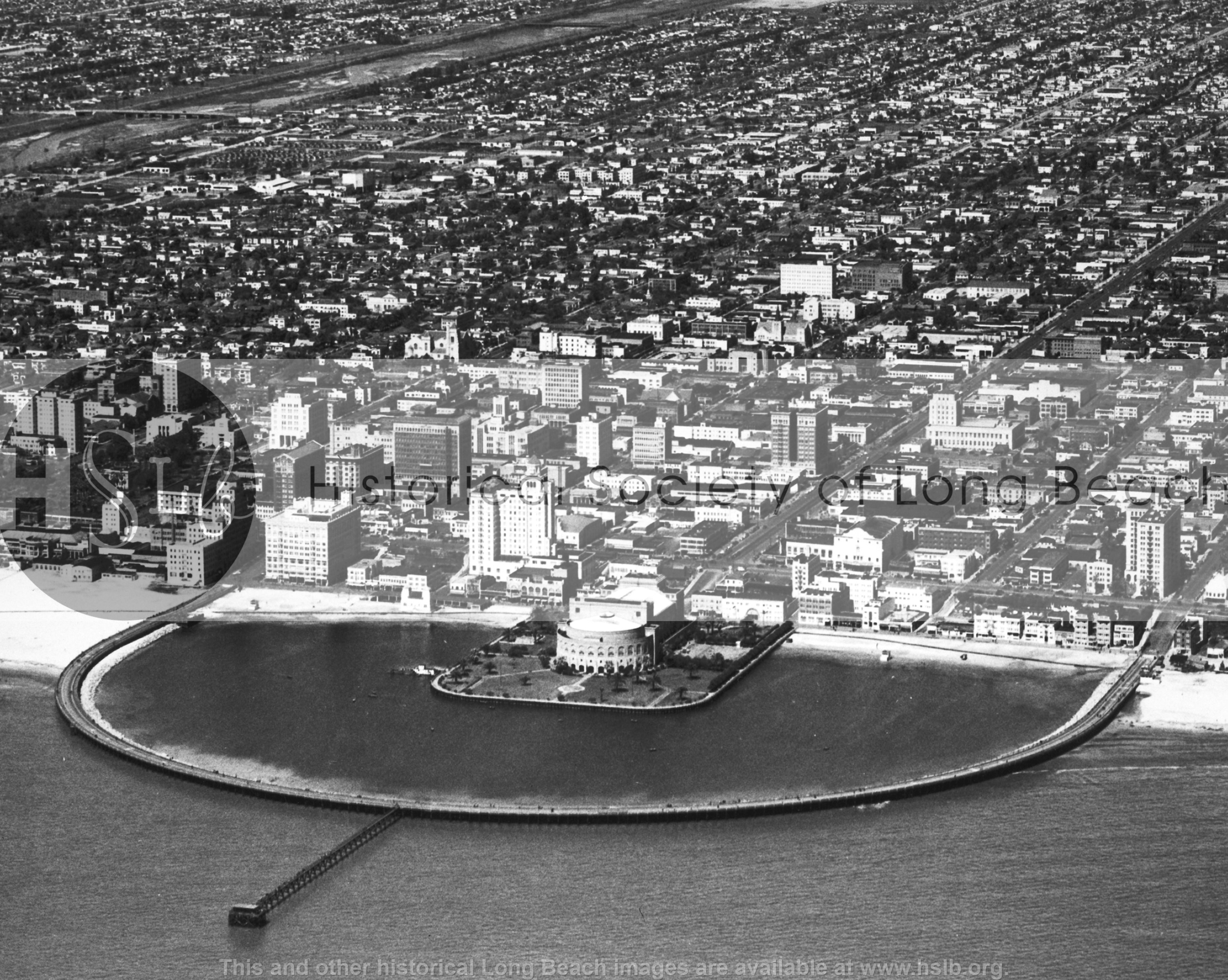 Downtown aerial, 1945