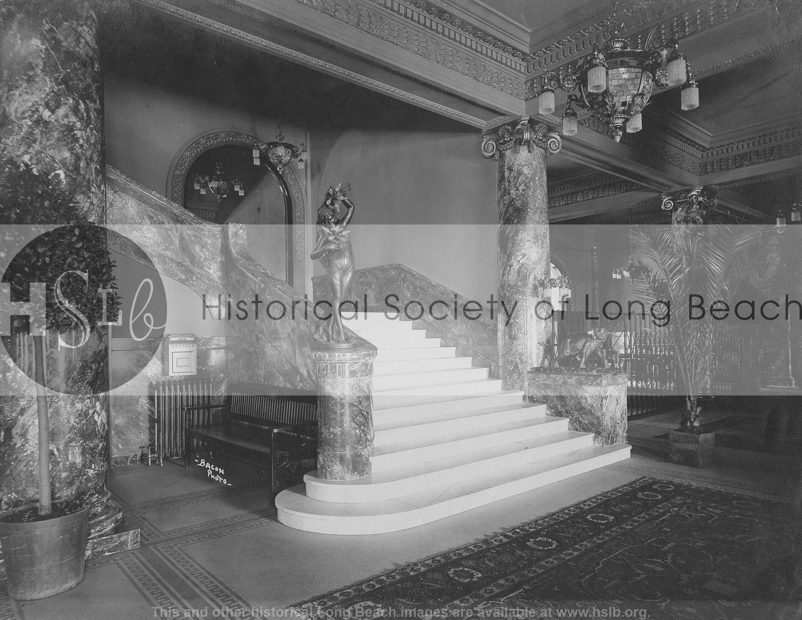 Virginia Hotel staircase, 1915