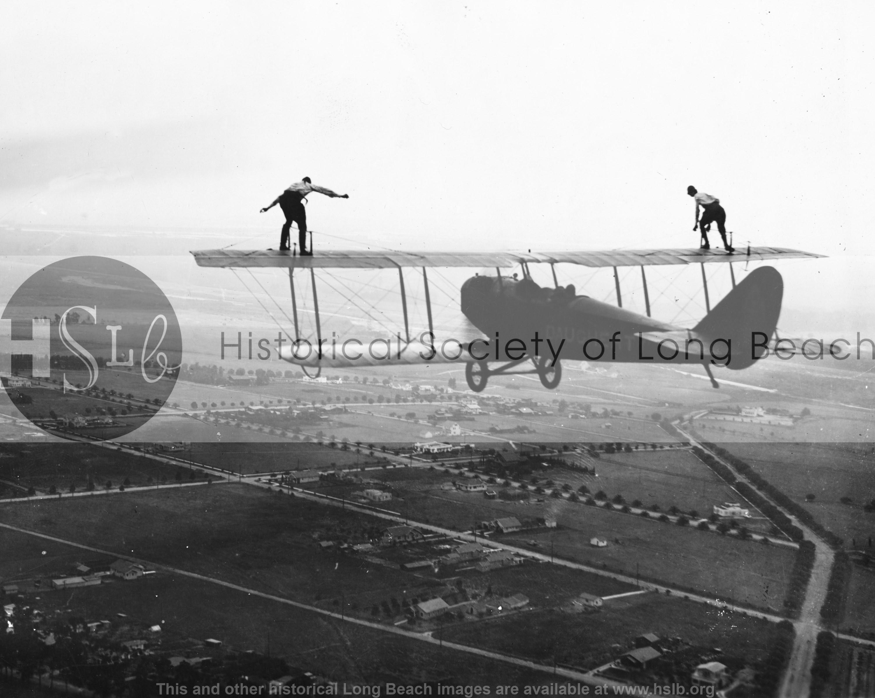 Daugherty wingwalkers, 1920s vintage photograph