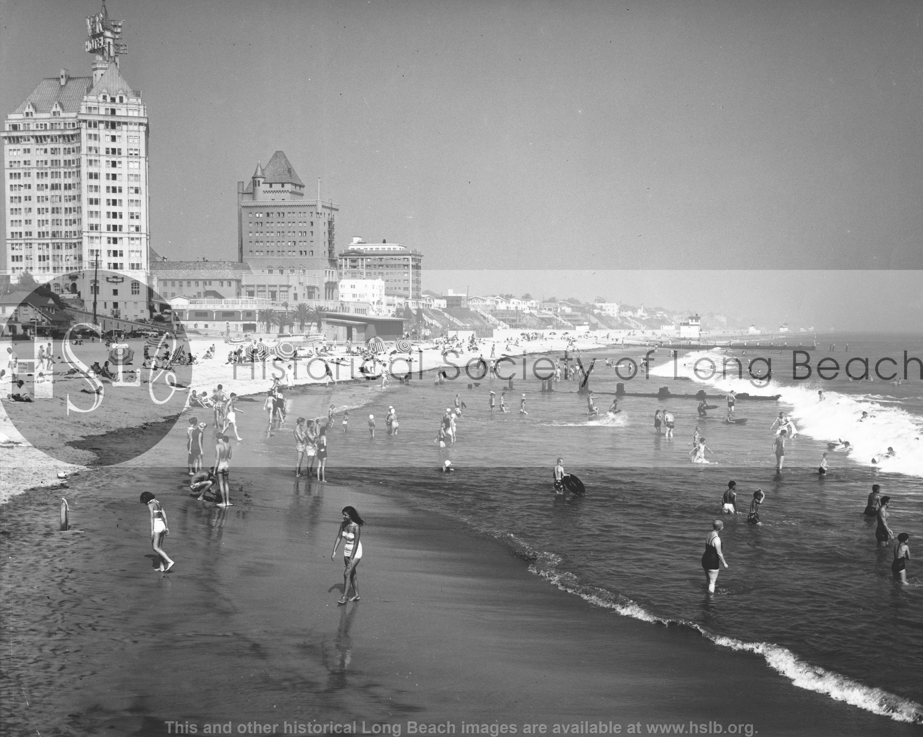 East beach, 1953 vintage photograph