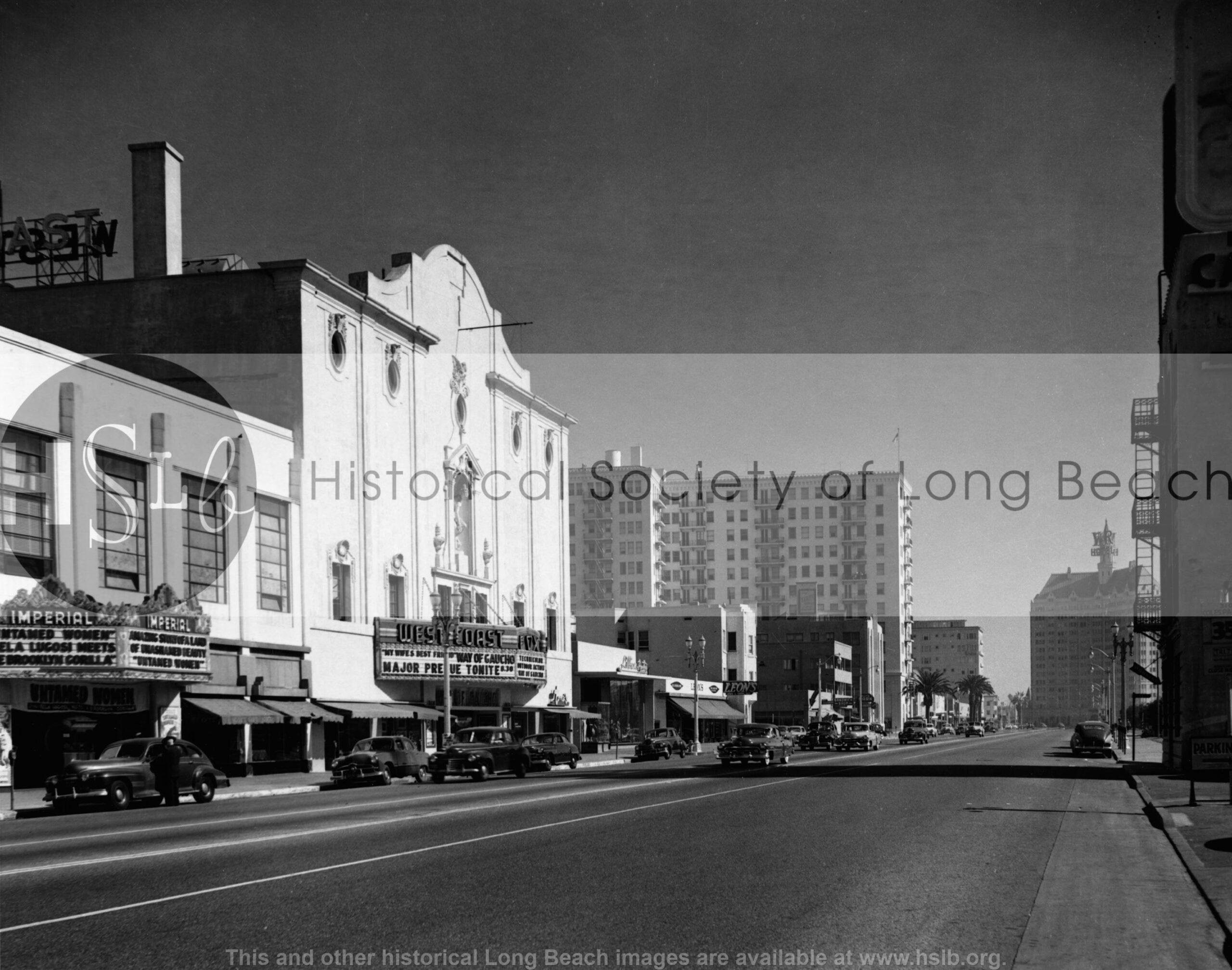 Ocean Blvd looking east, 1949