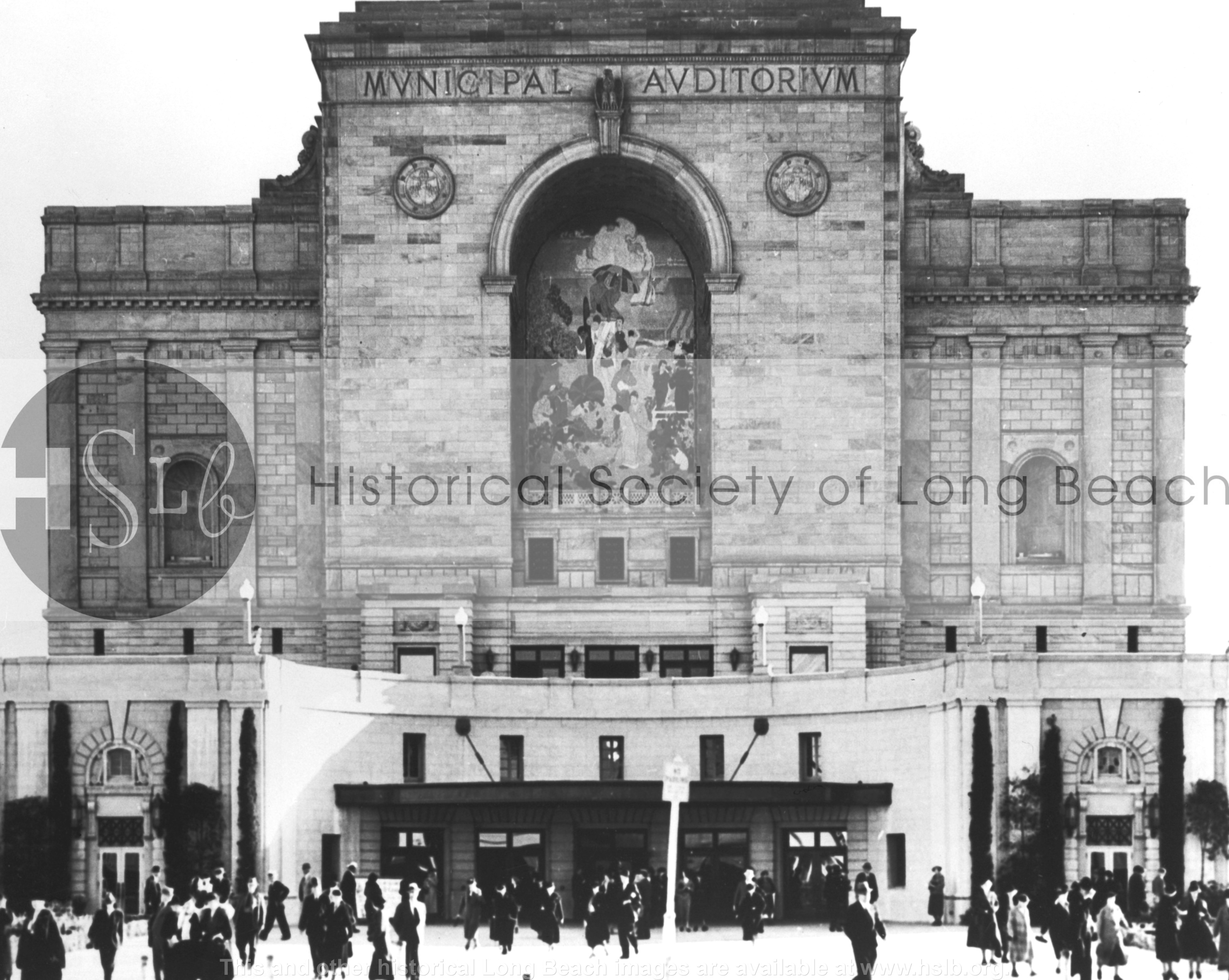 Municipal Auditorium mosaic, 1939 vintage photograph