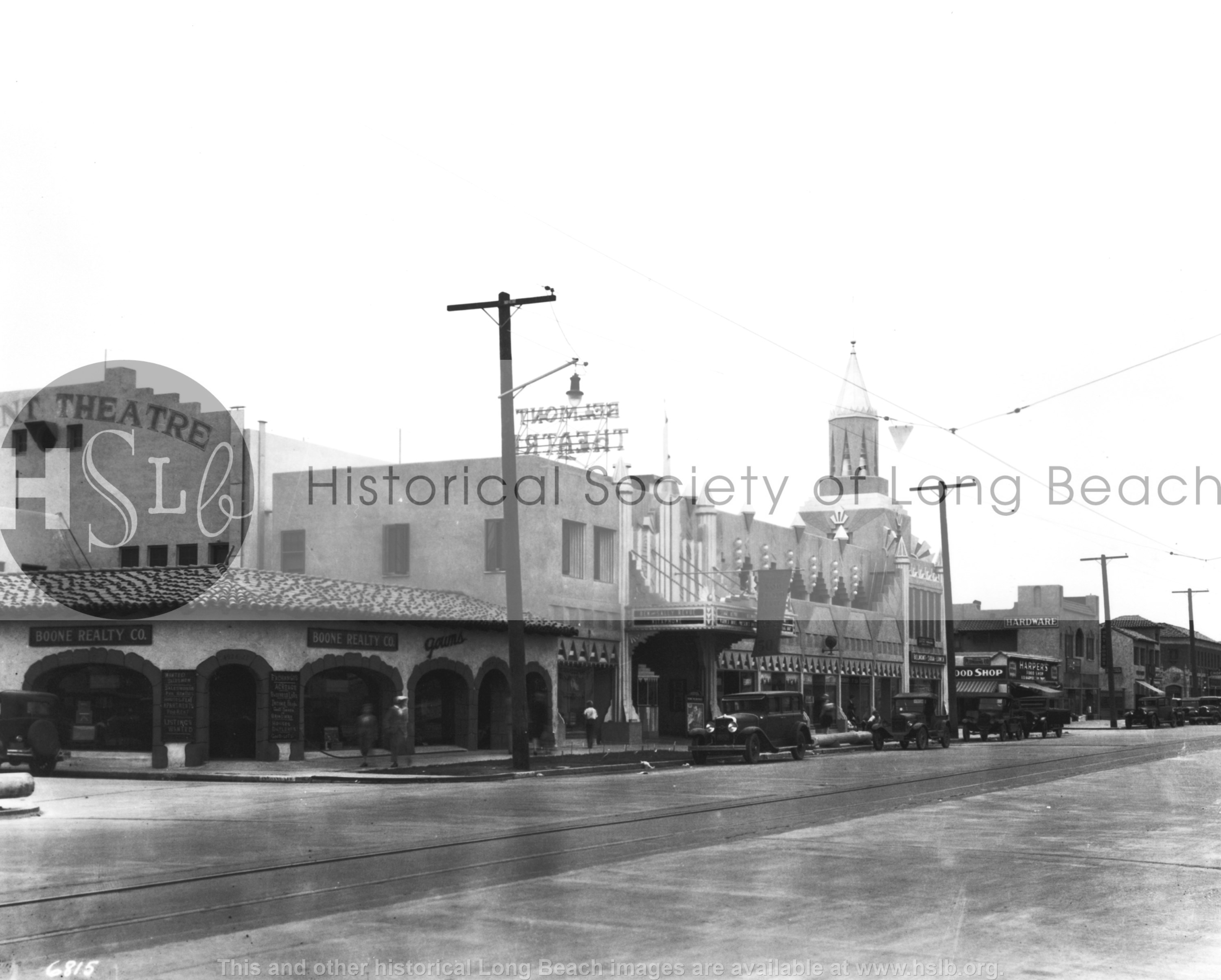 Belmont Shore Second St, 1930 vintage photograph