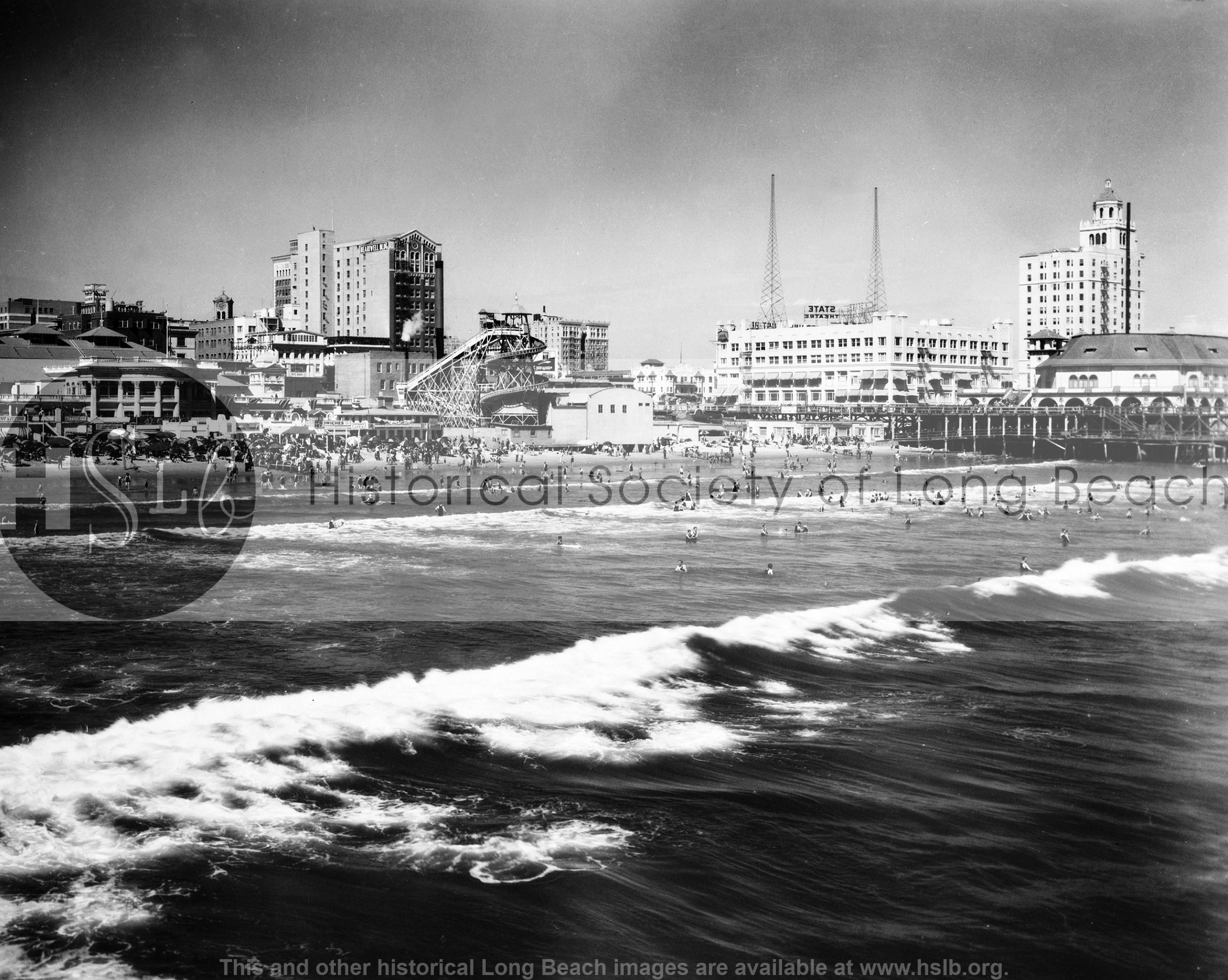 Beach w Pike, 1926 vintage photograph