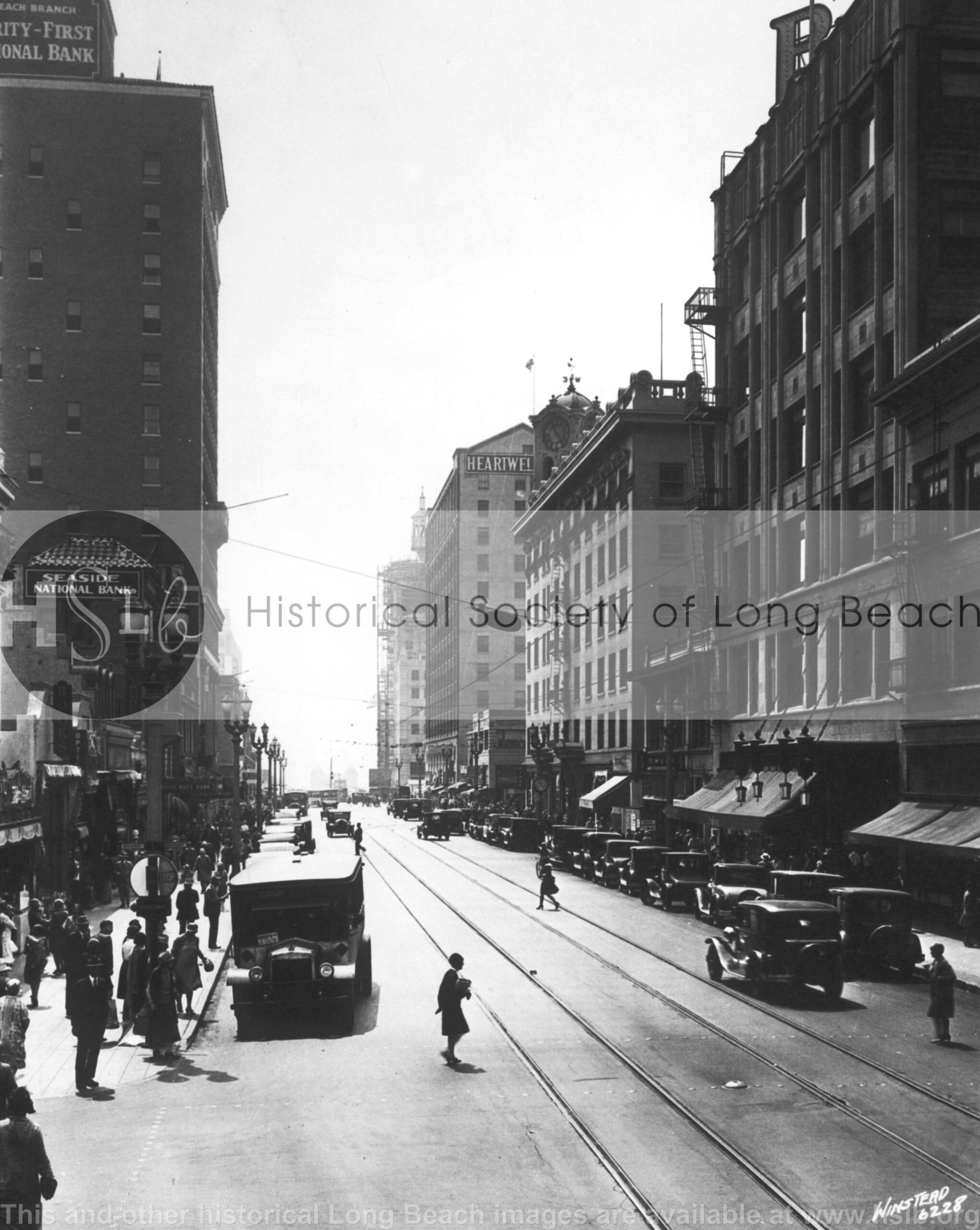 Pine Ave. downtown, 1930