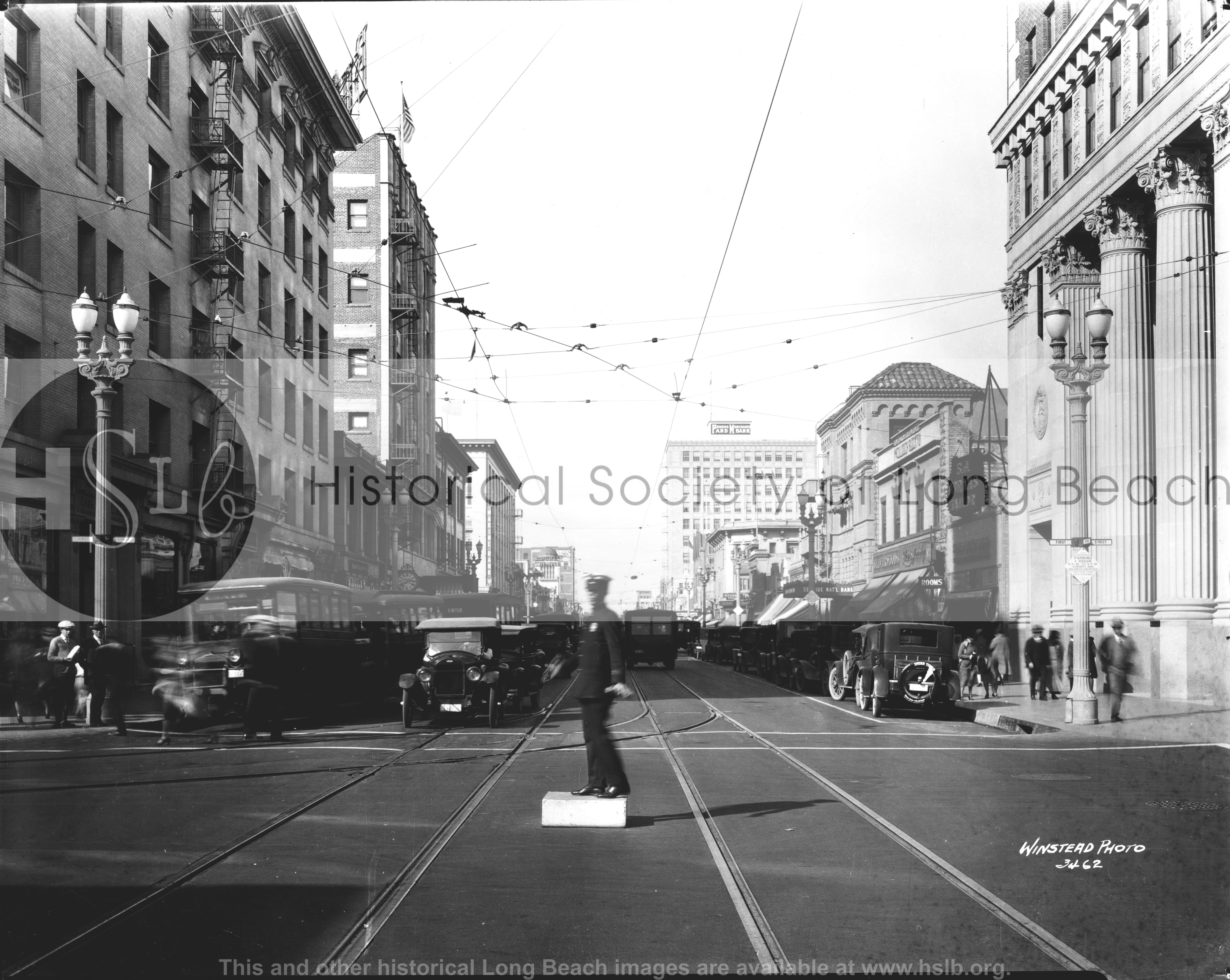 Pine & First, 1925 vintage photograph