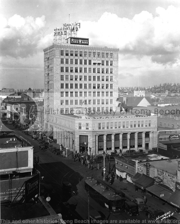 Farmers & Merchants Bank, 1929 vintage photo graph