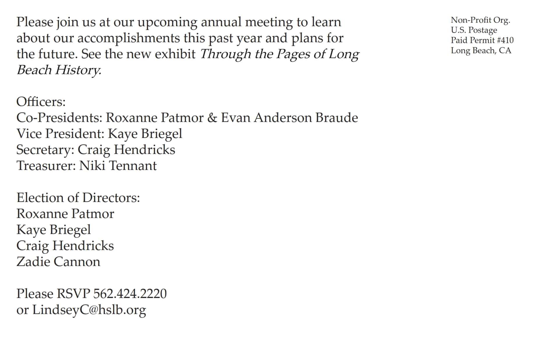 2014 annual meeting postcard