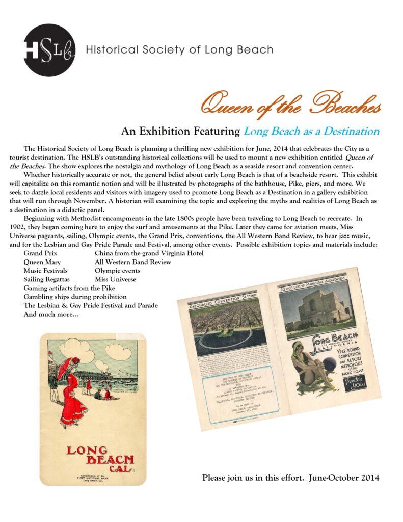 Queen of the beaches exhibition destination long beach