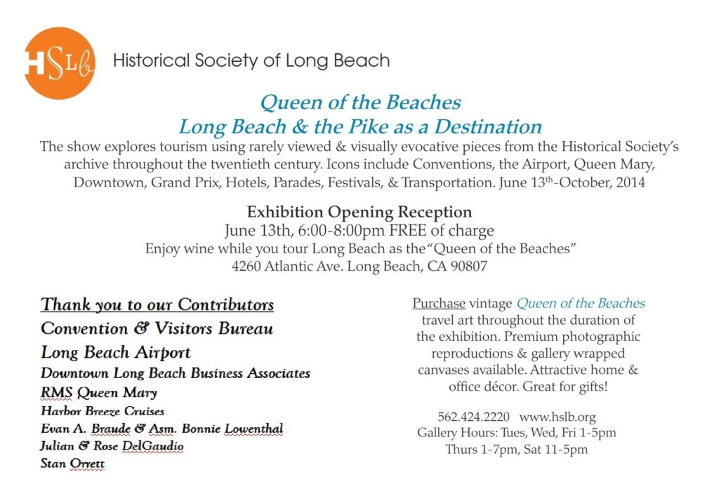 Historical Society of Long Beach Queen of the beaches flier