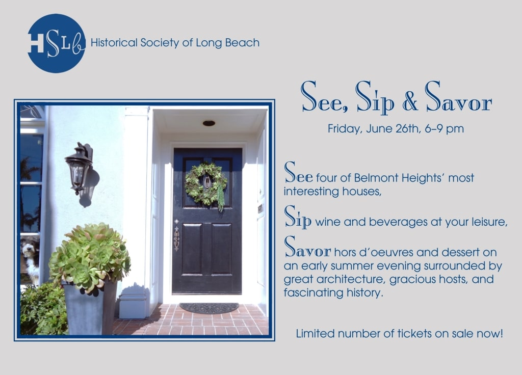 See Sip and Savor event flier front side