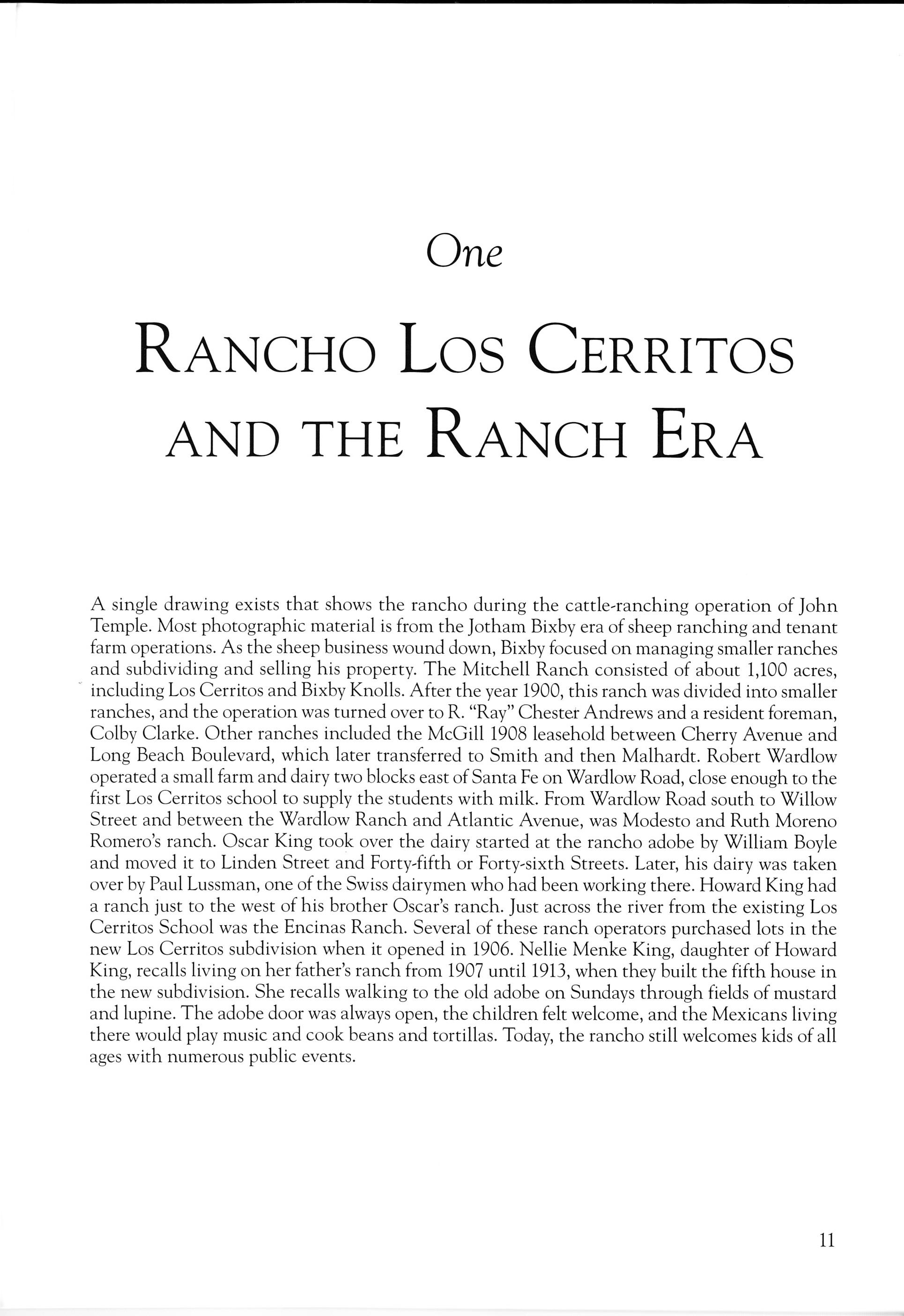 Long beach Los Cerritos Chapter 1