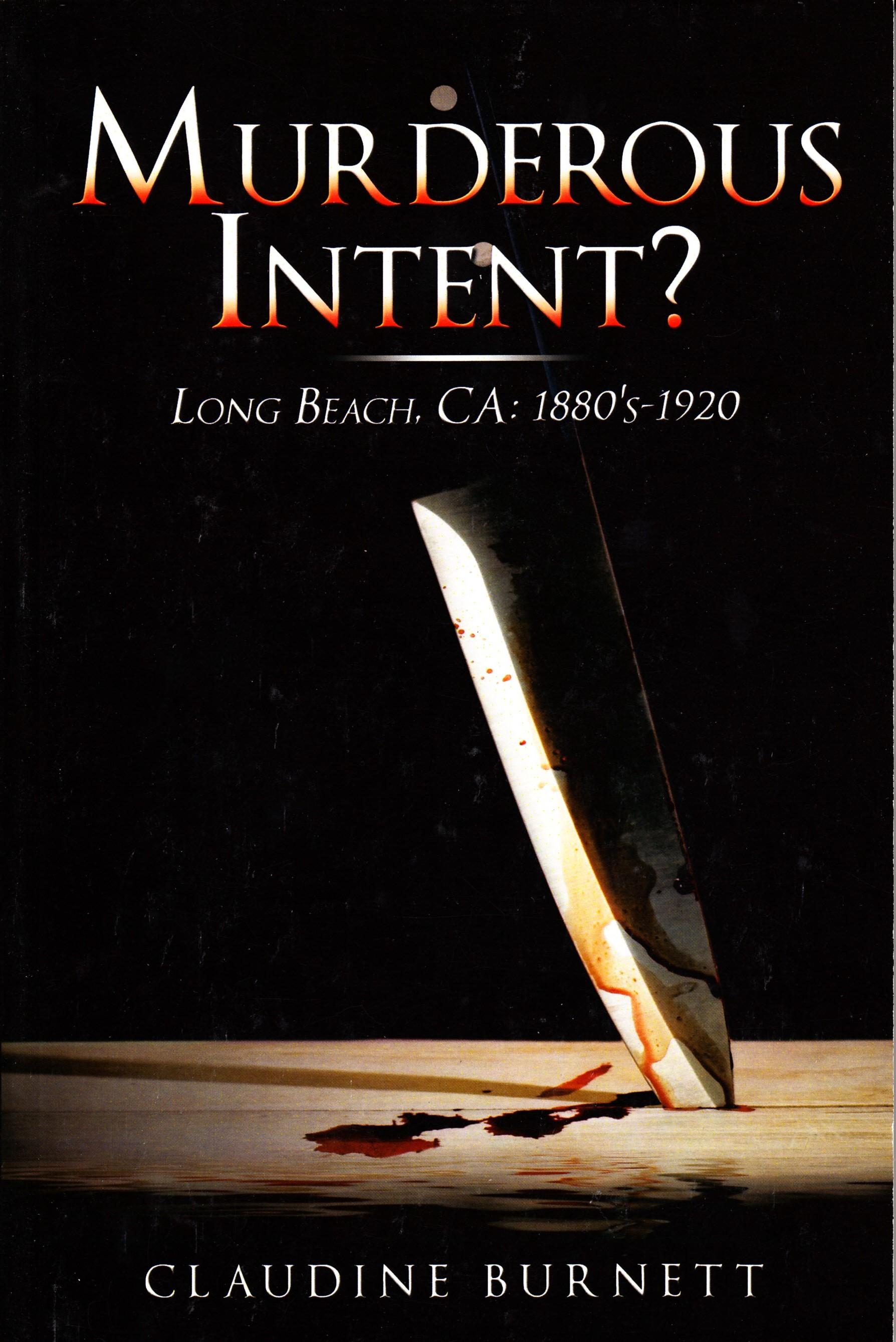 Murderous Intent Long beach, Ca Book Cover