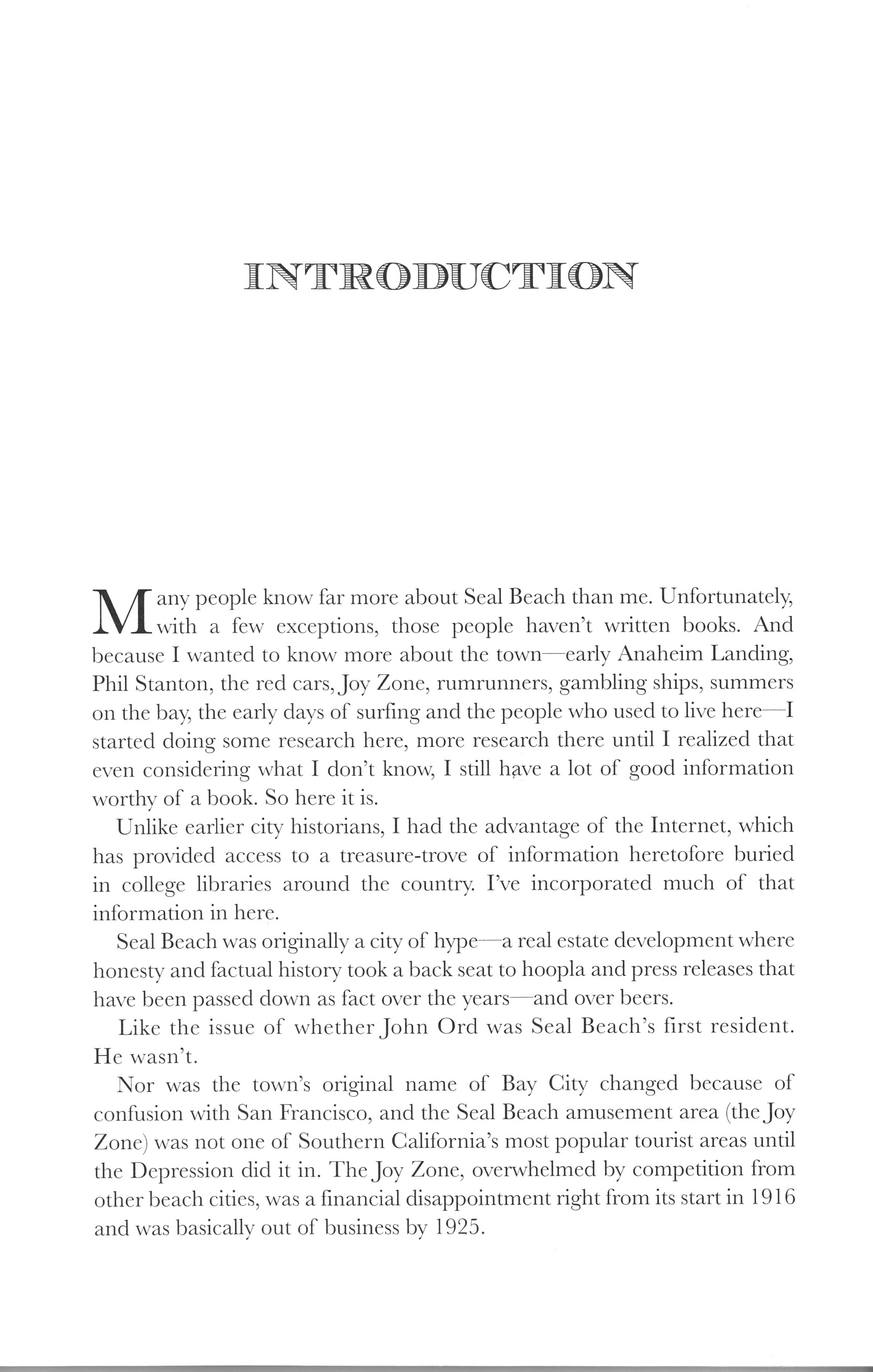 Seal beach book image introduction