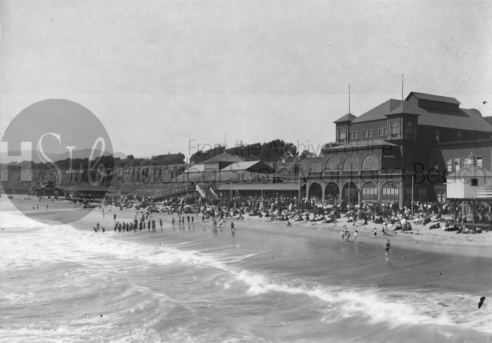 Long beach historical photograph of coastline