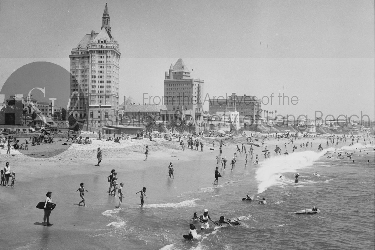 Historical society photo people playing on the beach