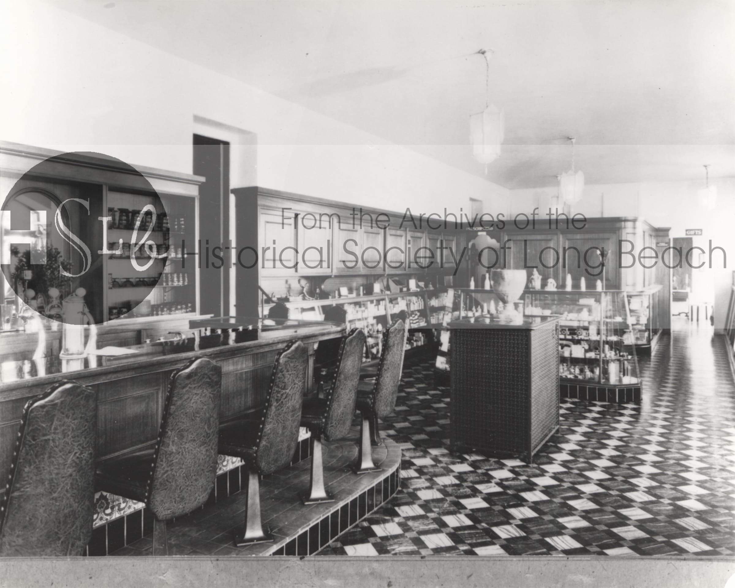 Long beach restaurant historical photograph