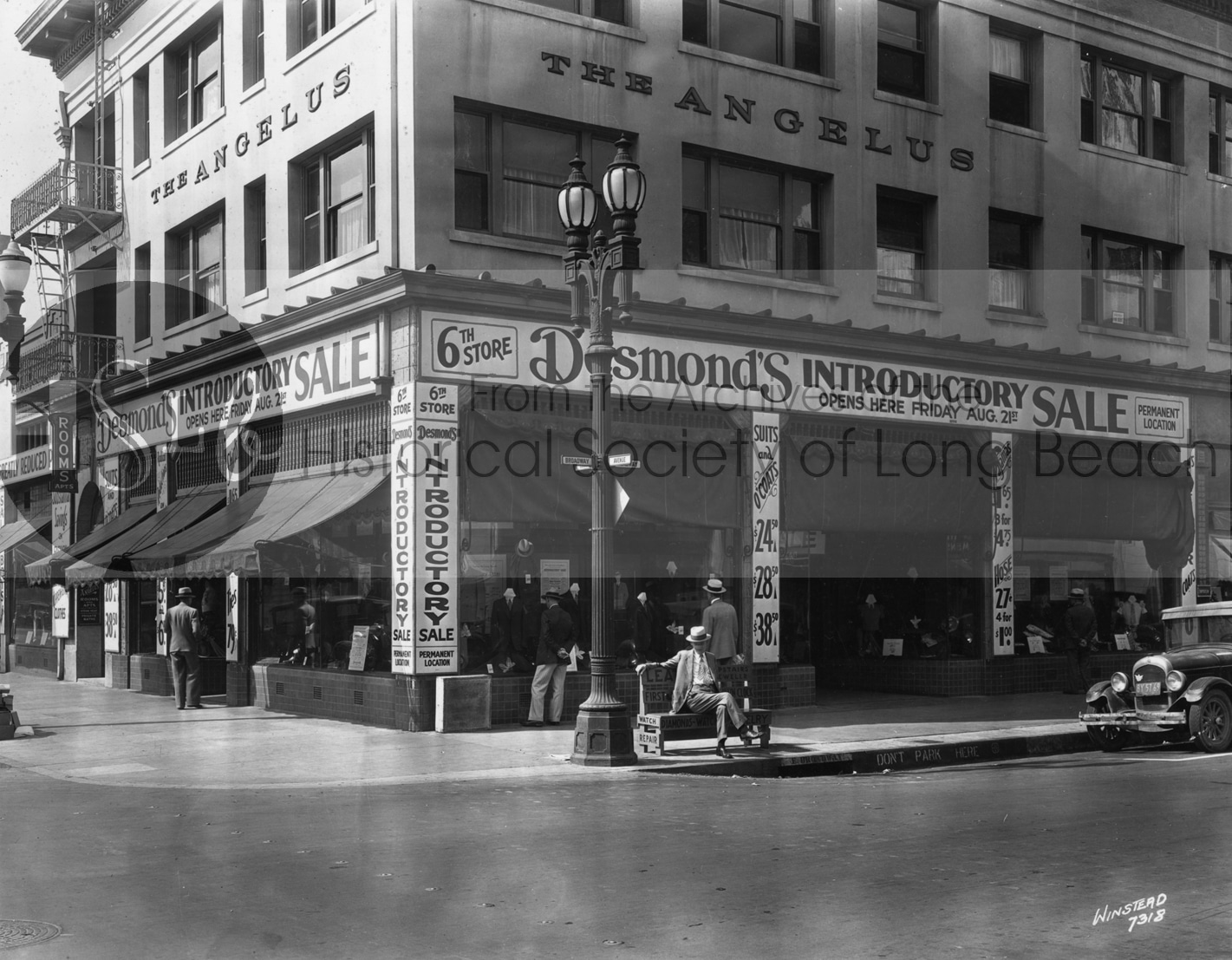 Desmond's Department Store at Broadway & Locust, 1931