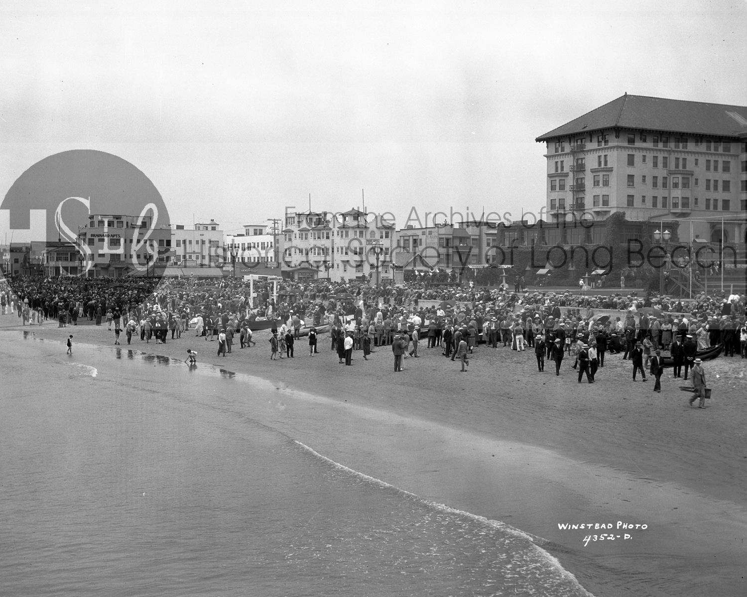 Beach photograph from the historical society