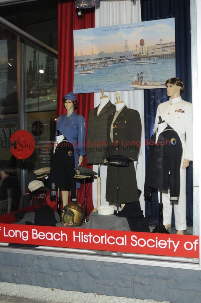 Historical society Manikin setup with pearl harbor costumes