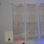 The memorial wall a tribute to those who served