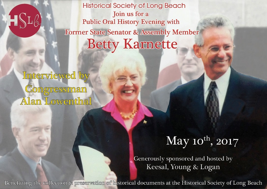 Berry Karnette historical society of long beach public oral history evening