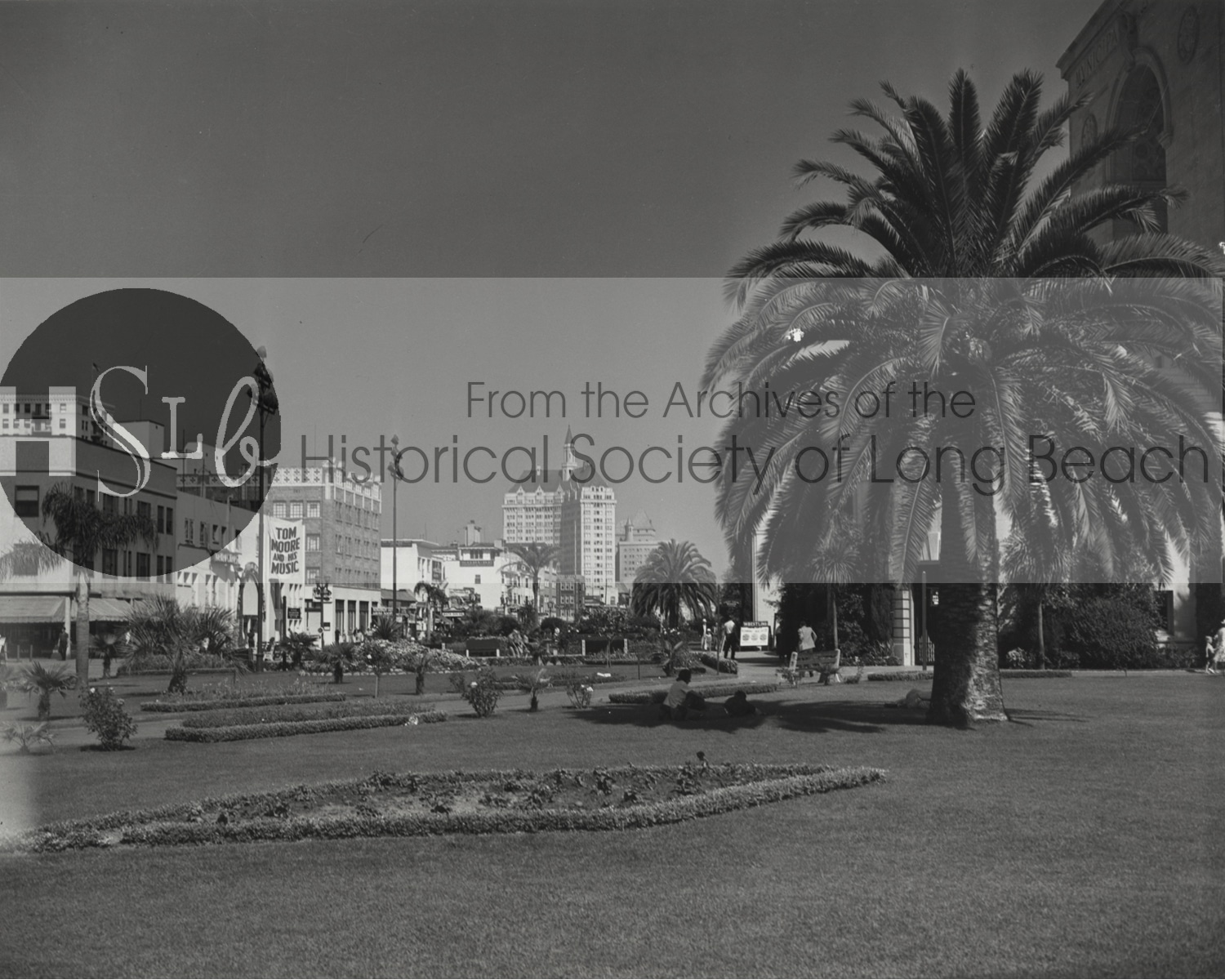 Vintage long beach park historical photo