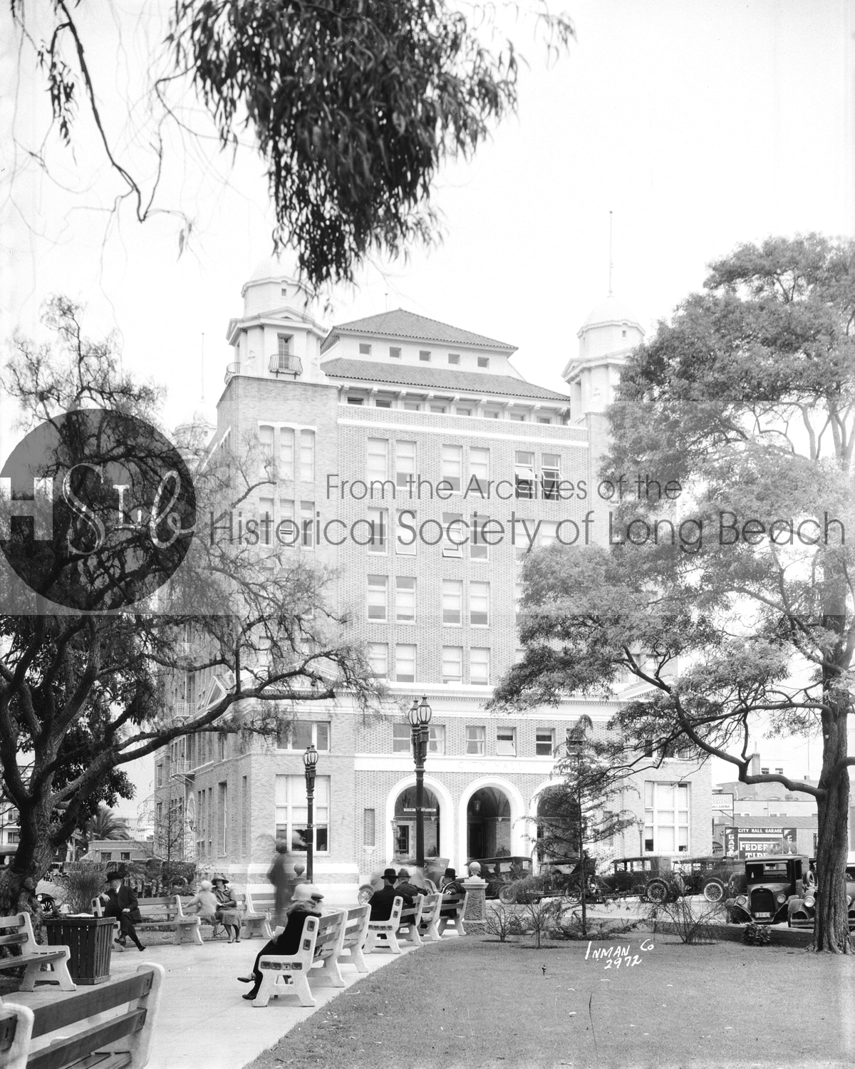 Historical long beach building photograph