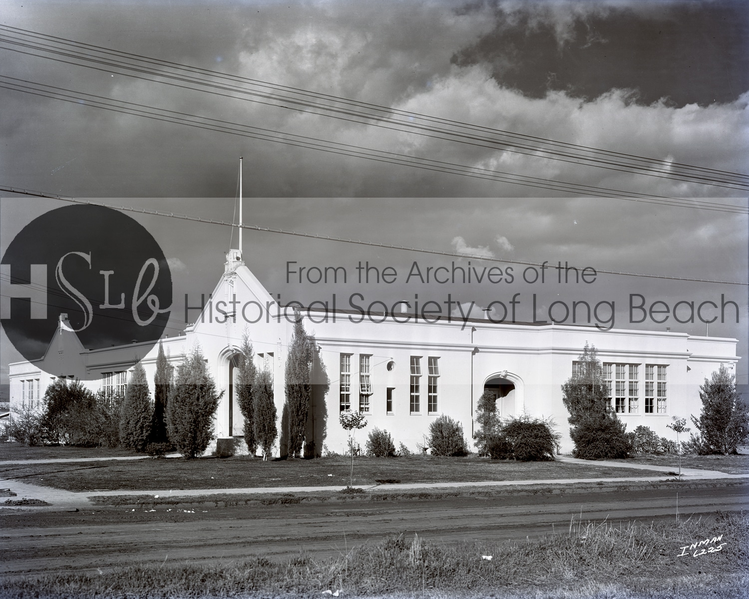 Long beach historical church building photograph