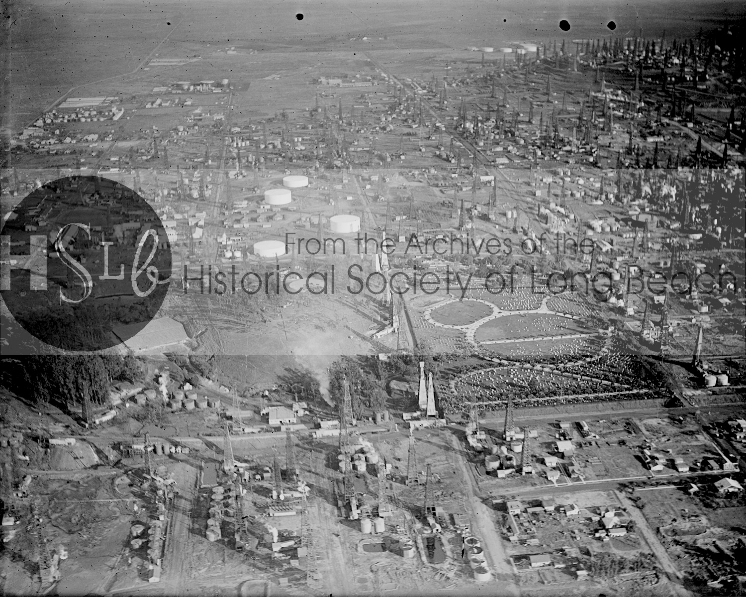 Signal Hill area with Sunnyside Cemetery, c. 1926