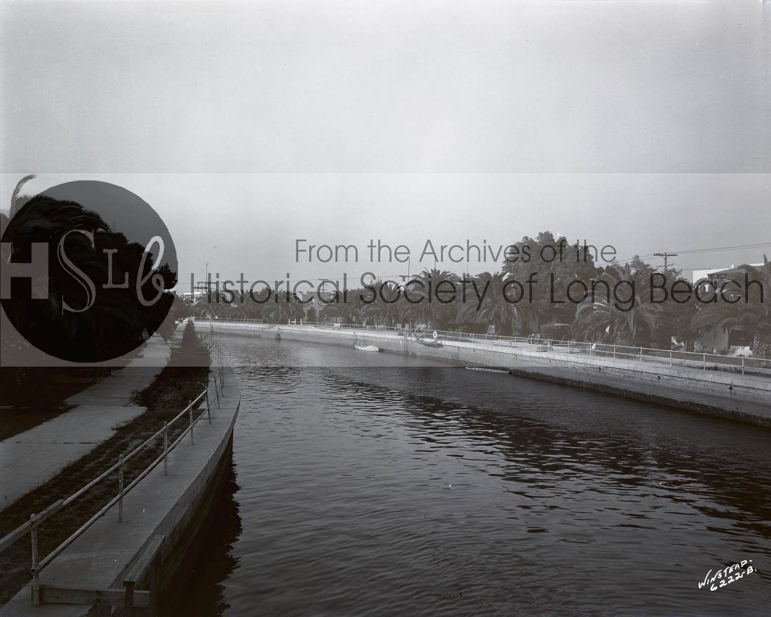 Long beach vintage water canal photograph