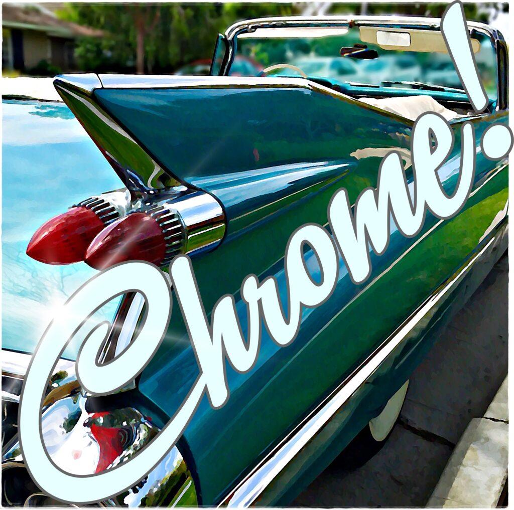 Chrome car logo side
