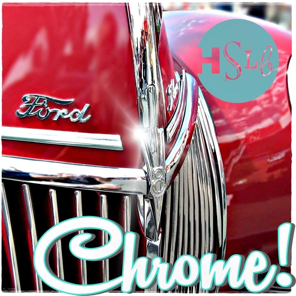Chrome grill car logo