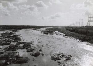 Long beach water line in California