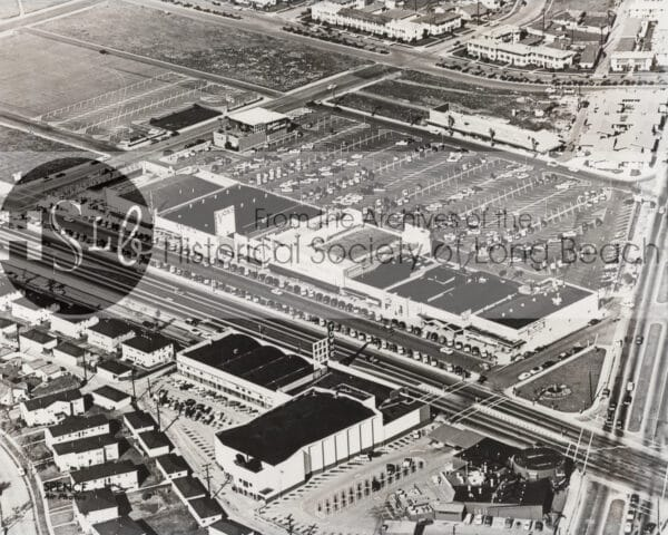 photograph from above of long beach city